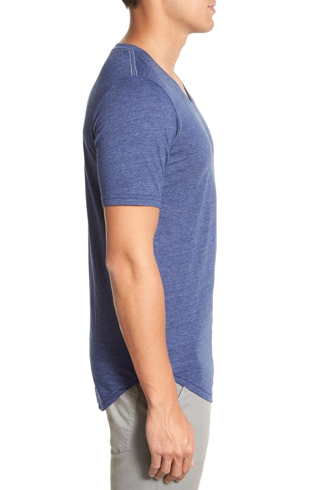 Scallop Triblend V-Neck T-Shirt,                             Alternate thumbnail 88, color,