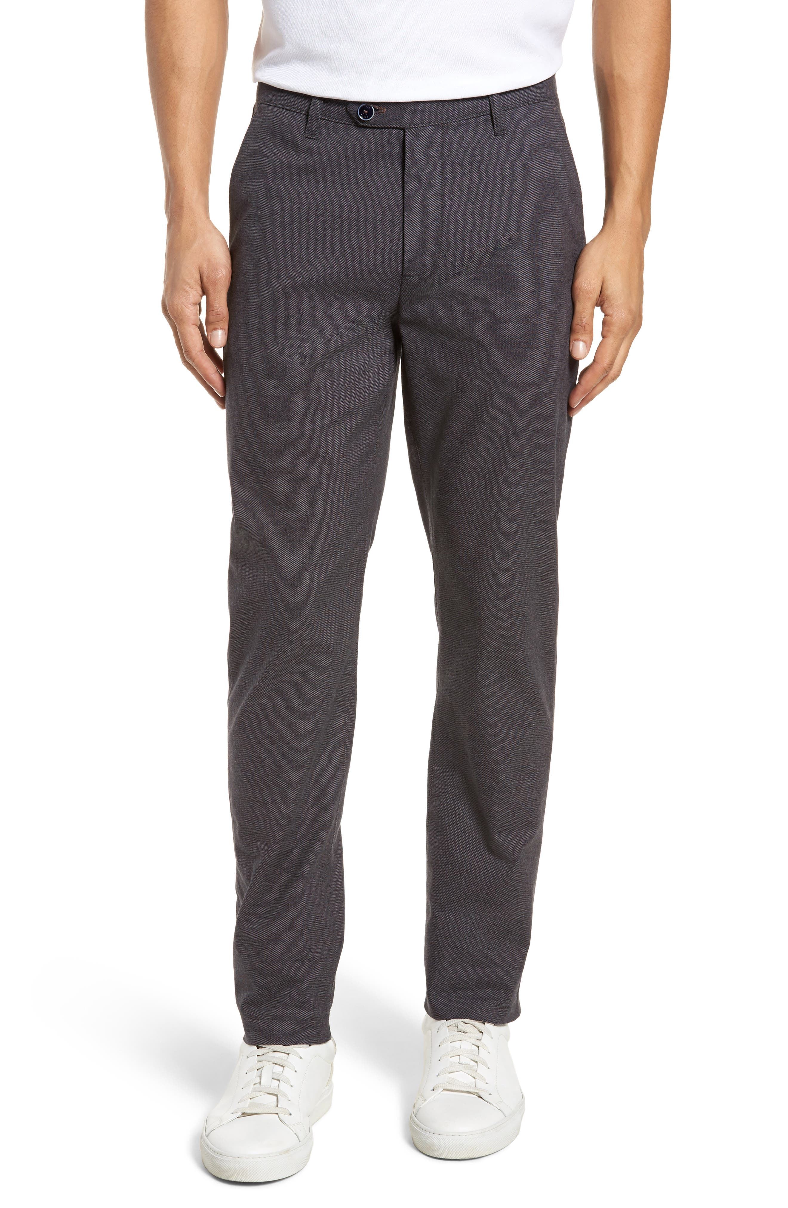 Holldet Flat Front Stretch Solid Cotton Pants,                         Main,                         color, 020