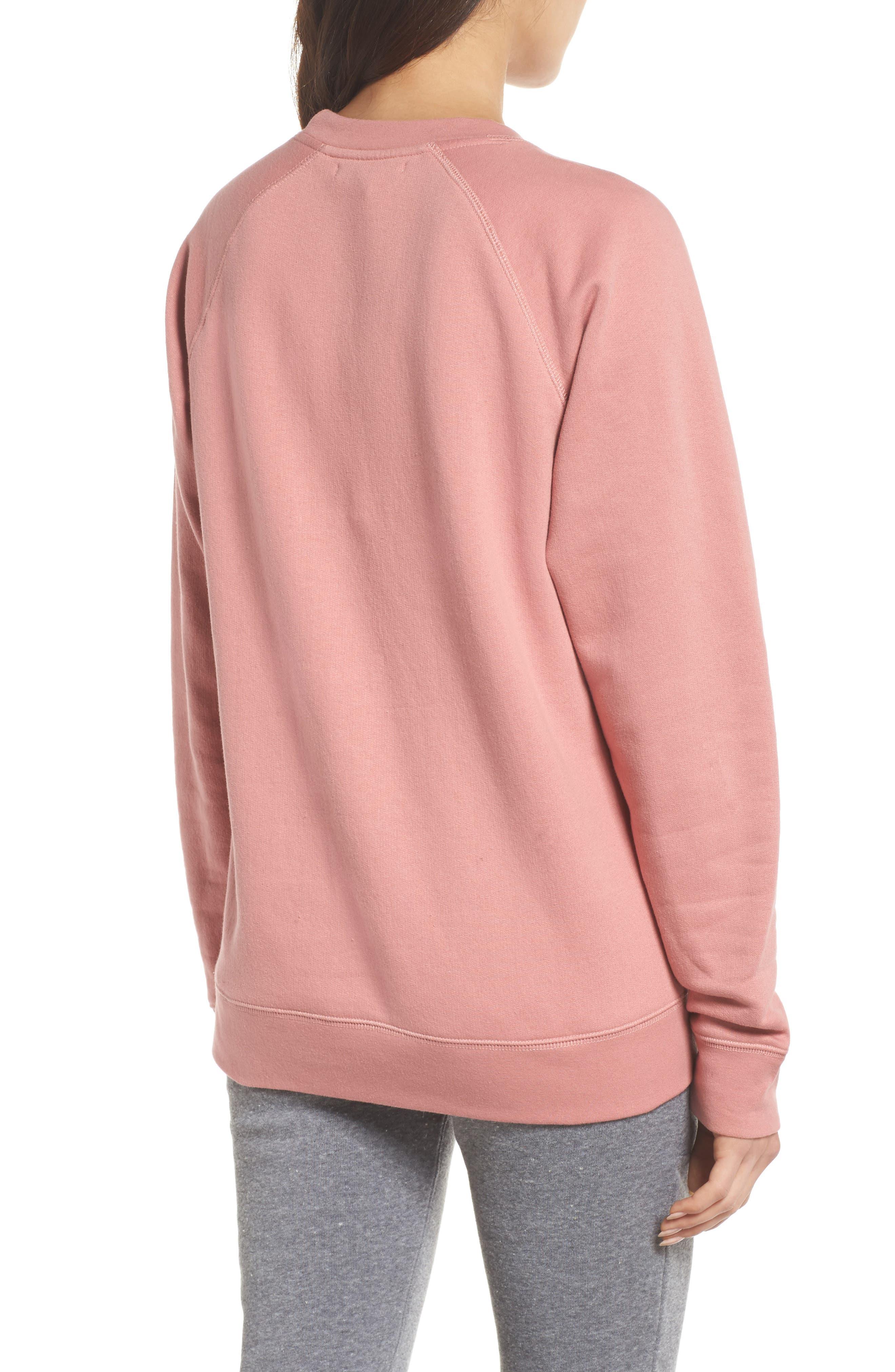 Rosé Okay Sweatshirt,                             Alternate thumbnail 2, color,                             DUSTY ROSE