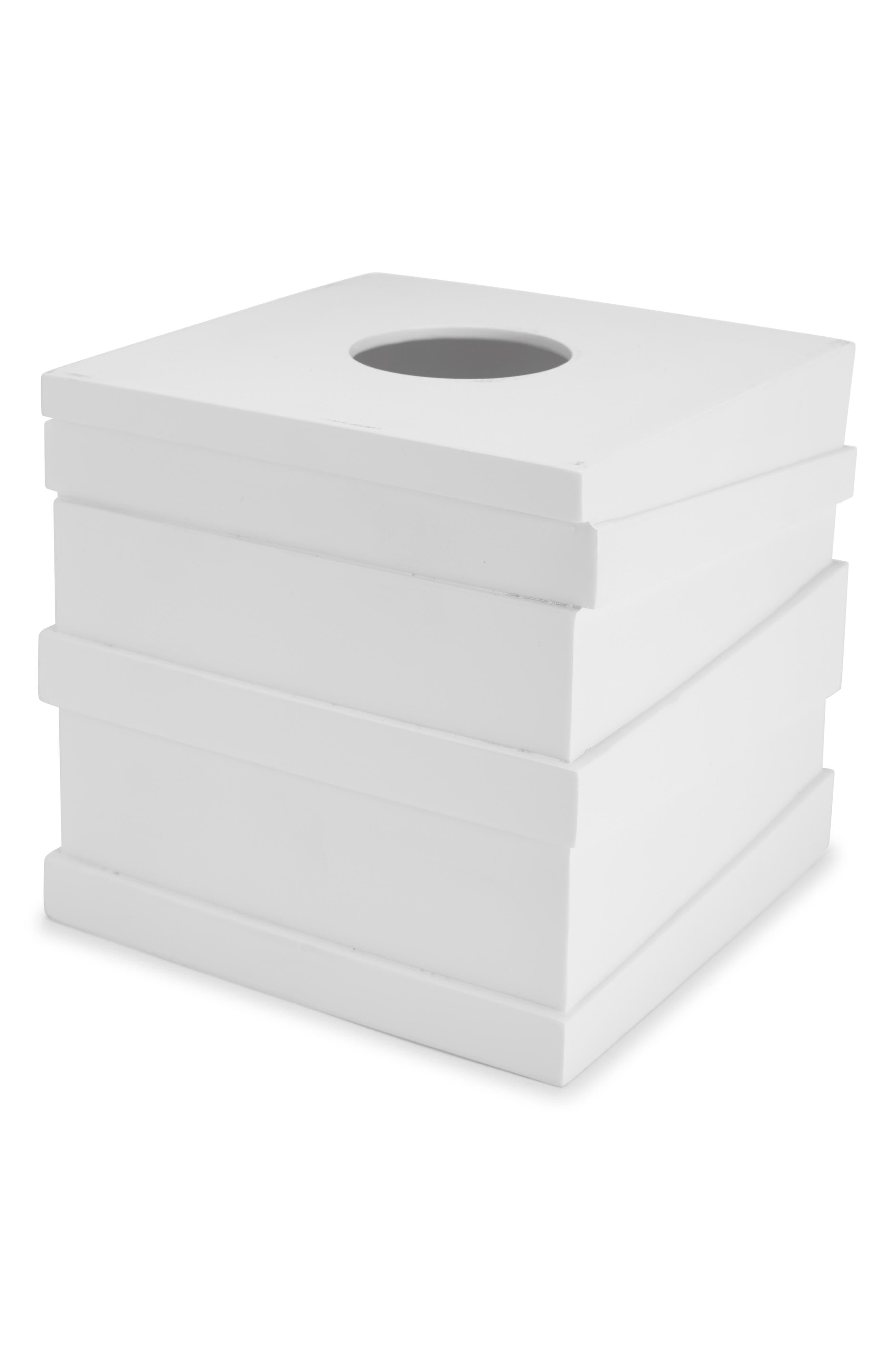 Alpine Tissue Holder,                             Main thumbnail 1, color,                             WHITE