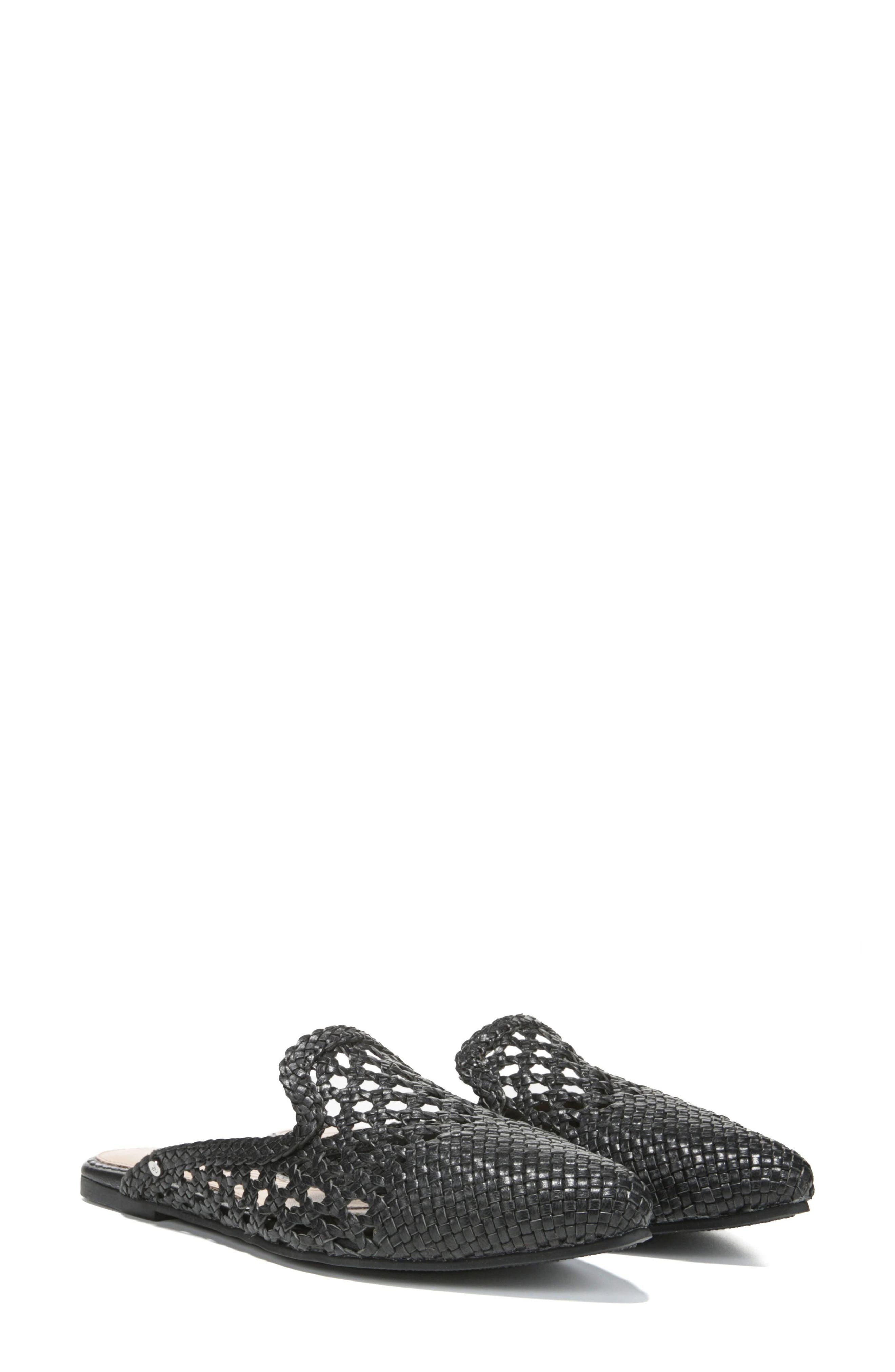 Navya Woven Loafer Mule,                         Main,                         color, 001