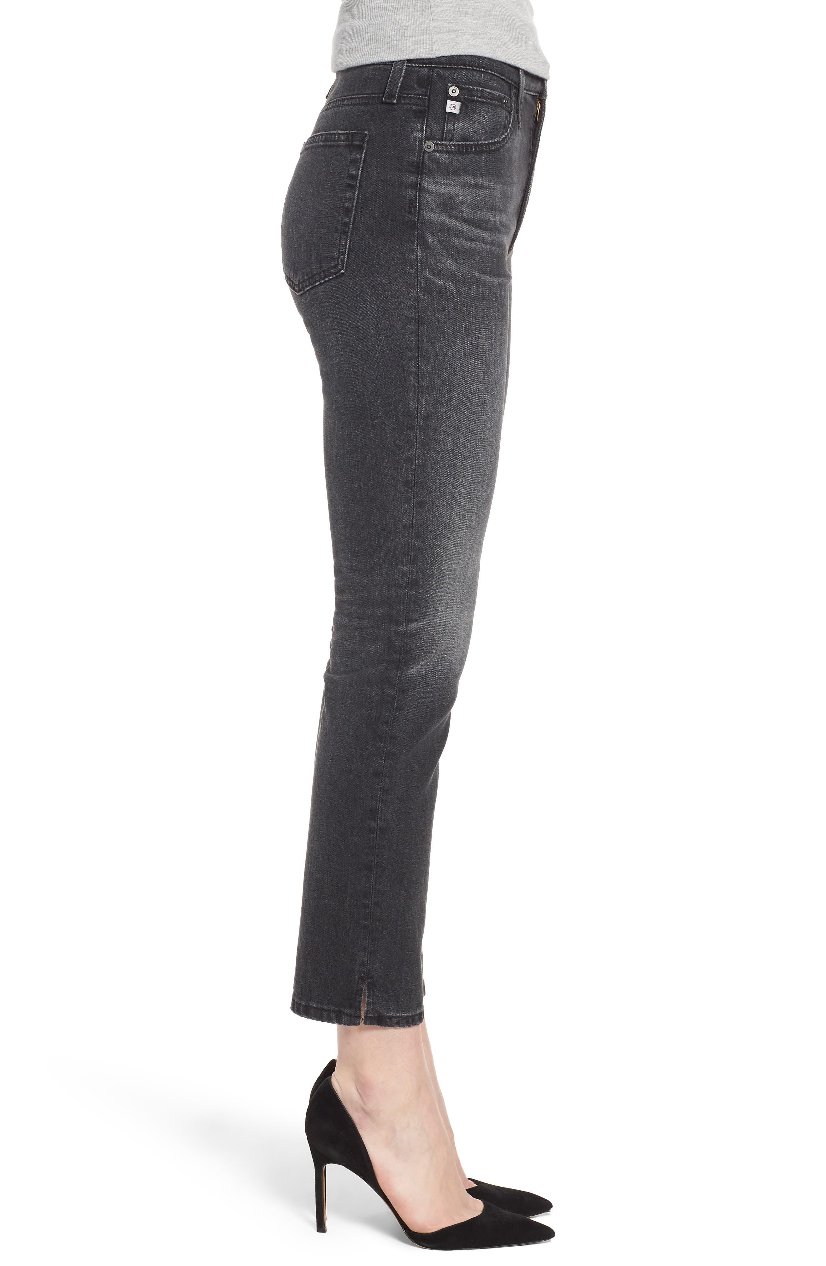 The Isabelle High Waist Ankle Straight Leg Jeans,                             Alternate thumbnail 3, color,                             019