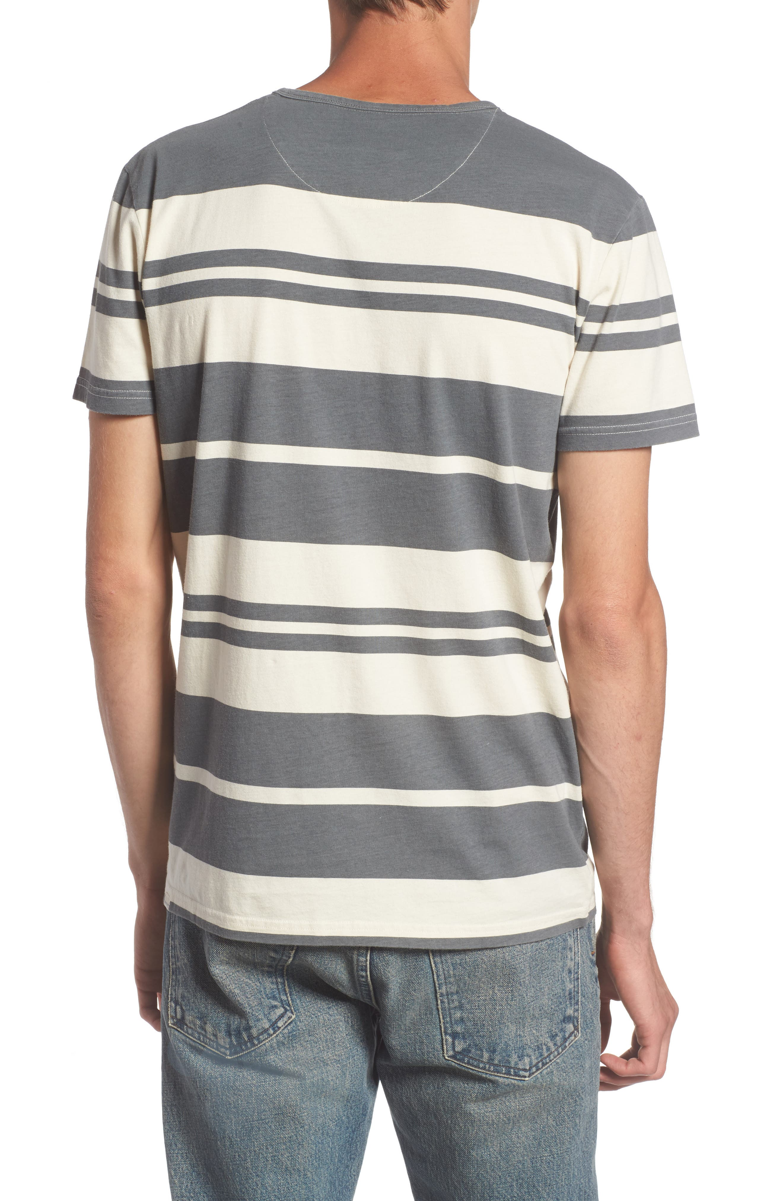 Lokea Stripe Pocket T-Shirt,                             Alternate thumbnail 2, color,                             012
