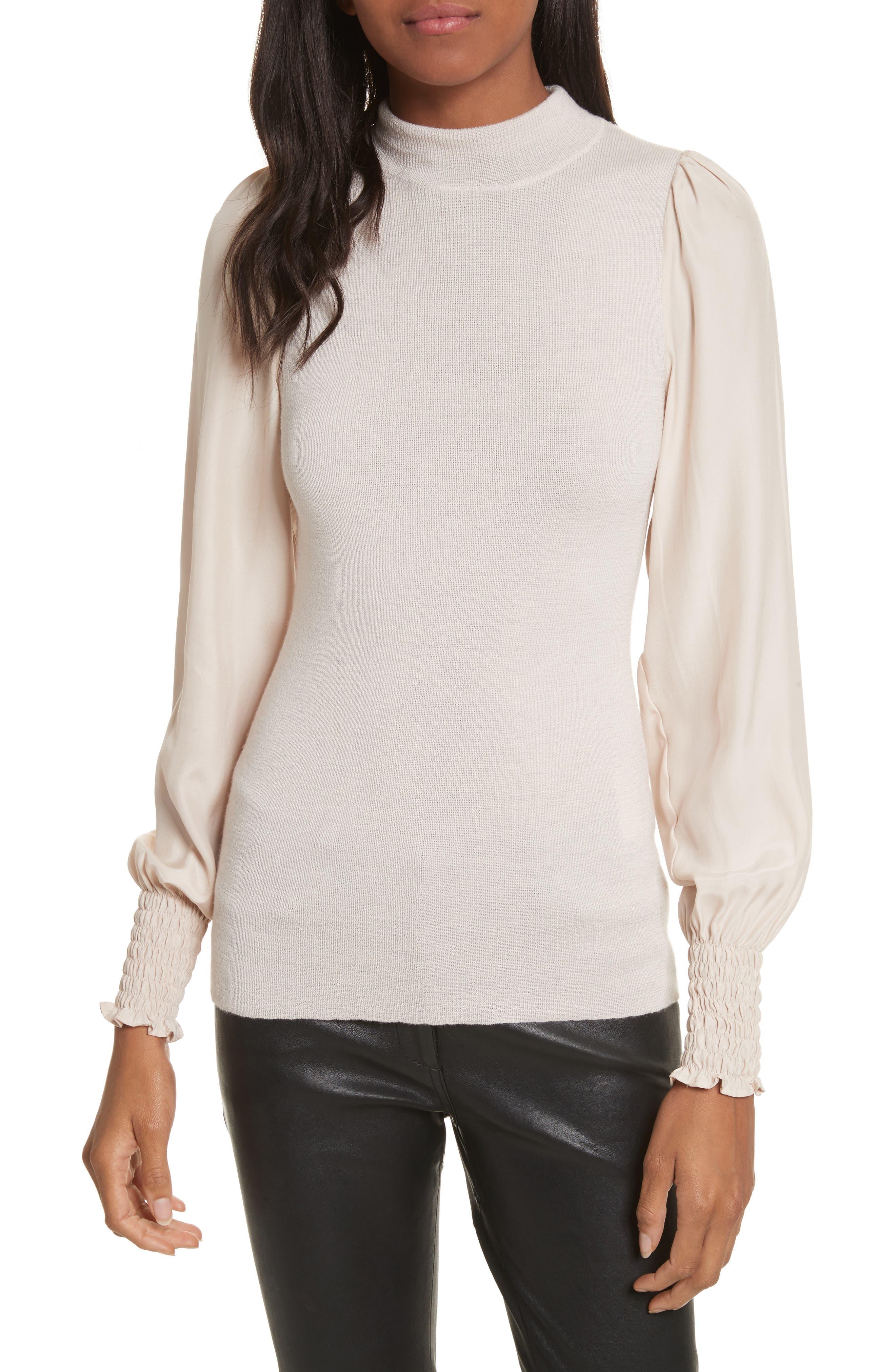 Merino Wool Mock Neck Pullover,                         Main,                         color,