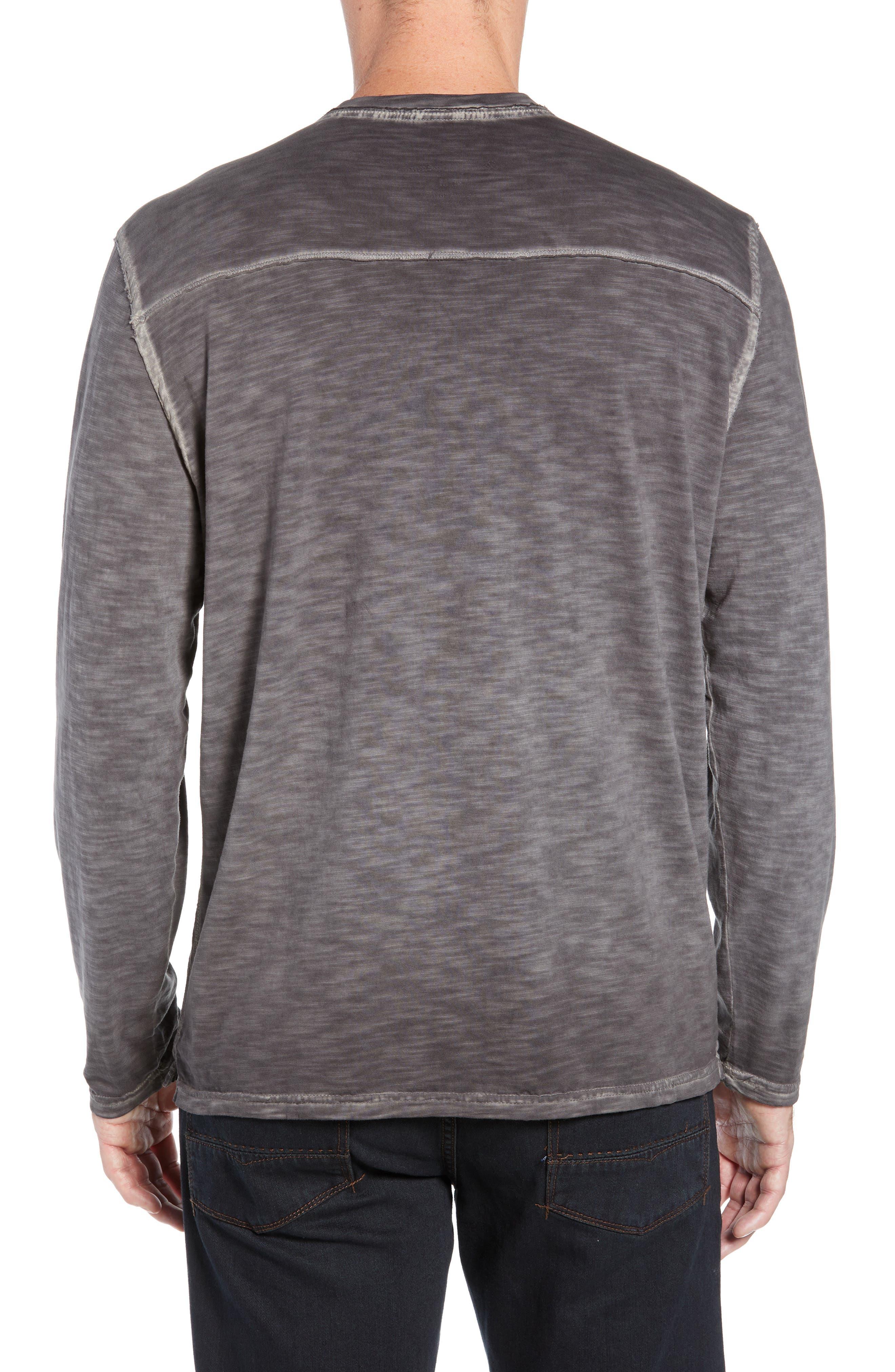 Suncoast Shores Long Sleeve V-Neck T-Shirt,                             Alternate thumbnail 2, color,                             COAL