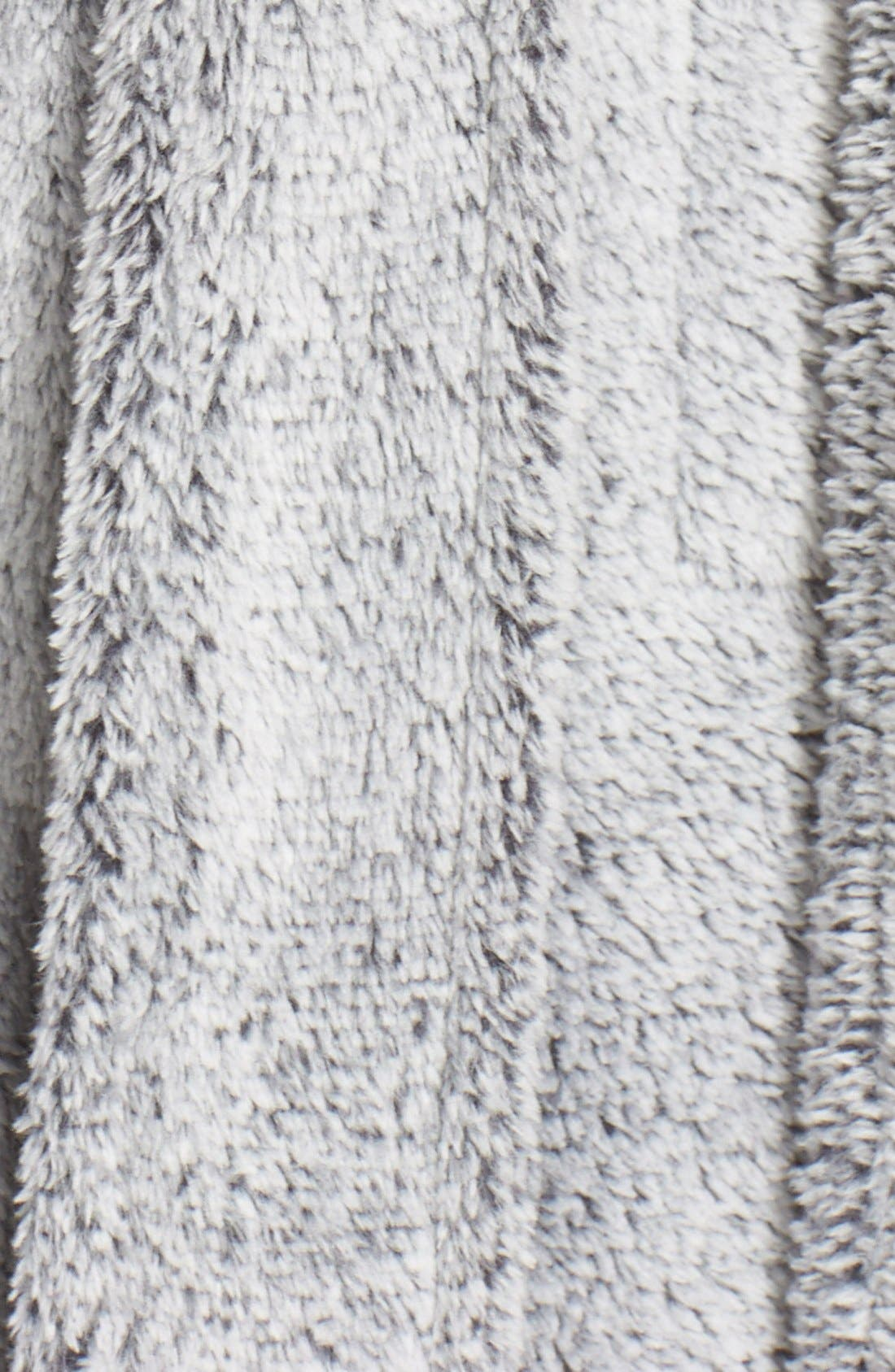 Plush Velour Robe,                             Alternate thumbnail 7, color,                             BLACK