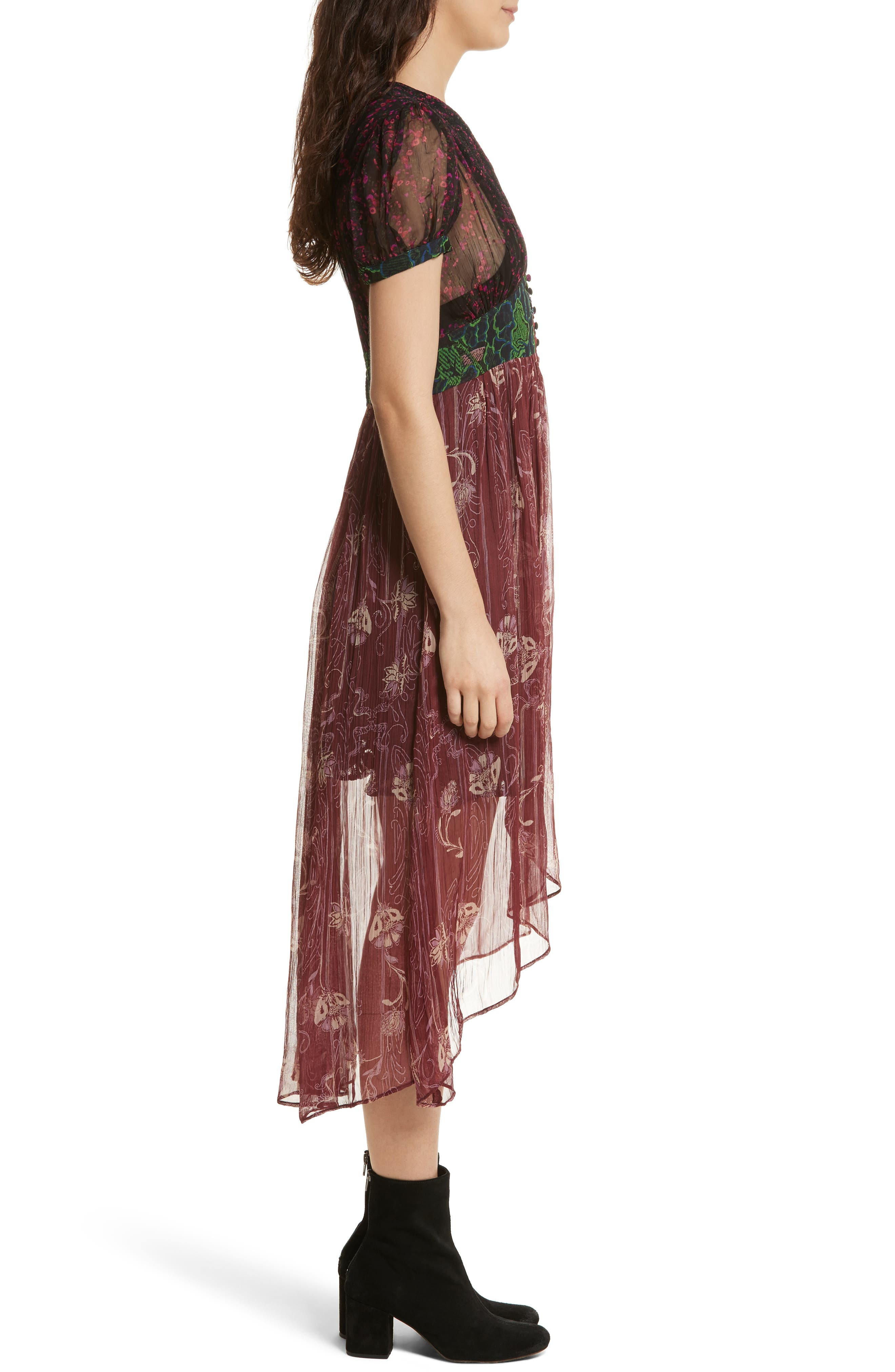 Daisy Fields Maxi Top,                             Alternate thumbnail 3, color,                             001