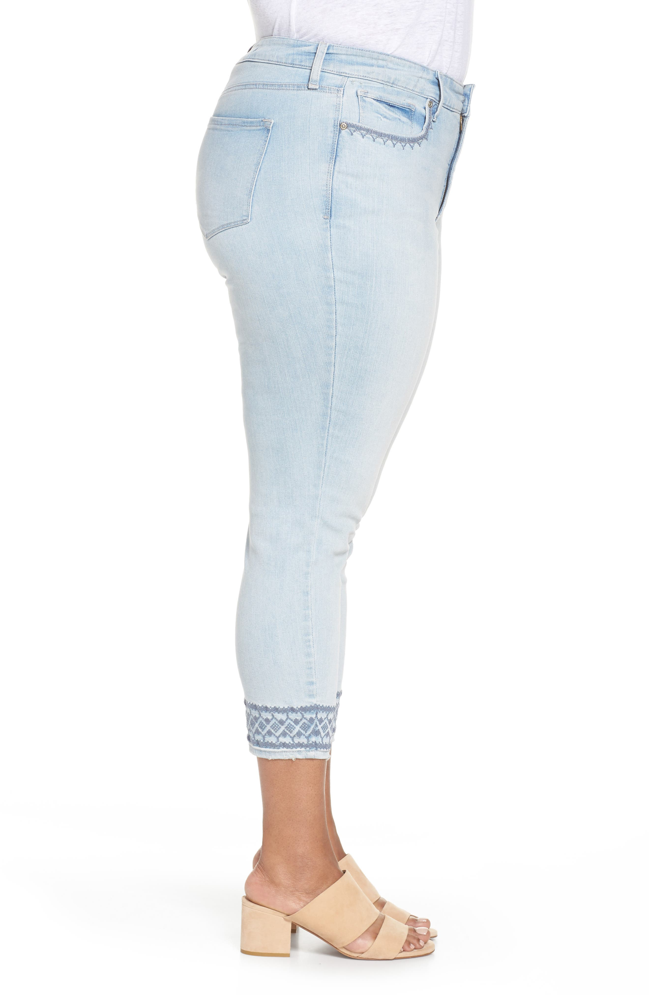 Ami Embroidered Ankle Skinny Jeans,                             Alternate thumbnail 3, color,
