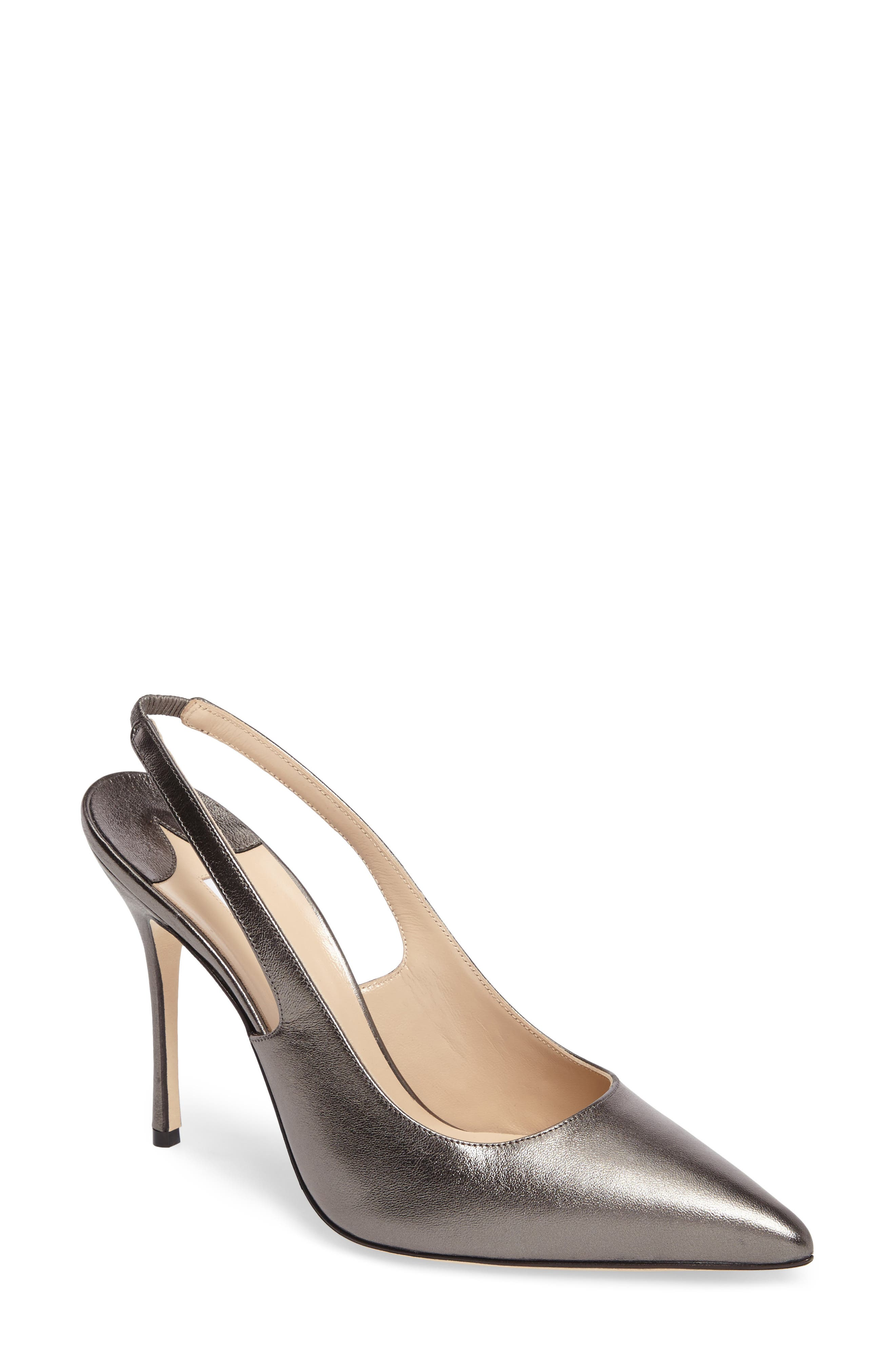 Allura Slingback Pump,                             Main thumbnail 1, color,                             ANTHRACITE LEATHER