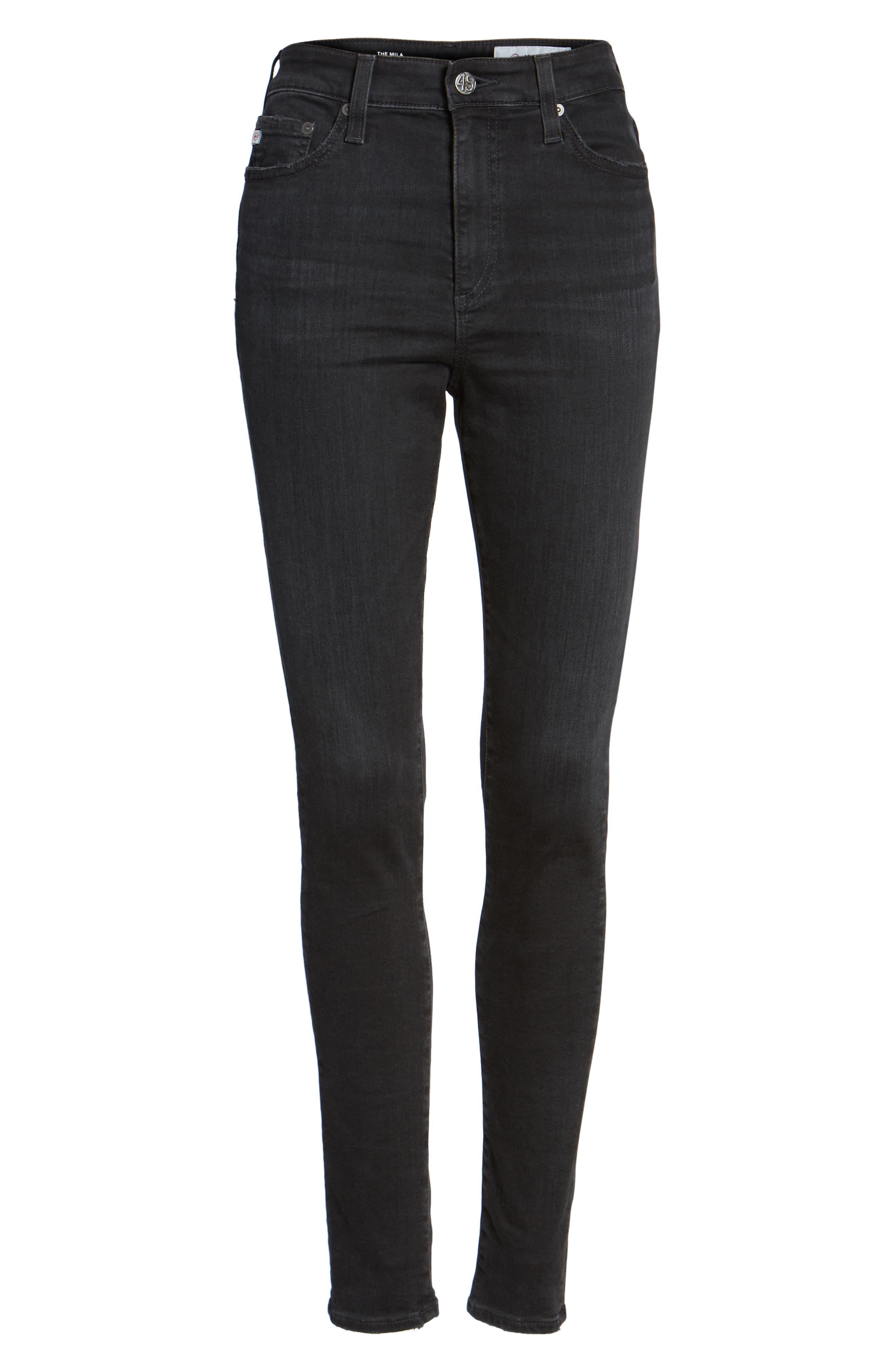 Mila High Rise Skinny Jeans,                             Alternate thumbnail 6, color,                             016