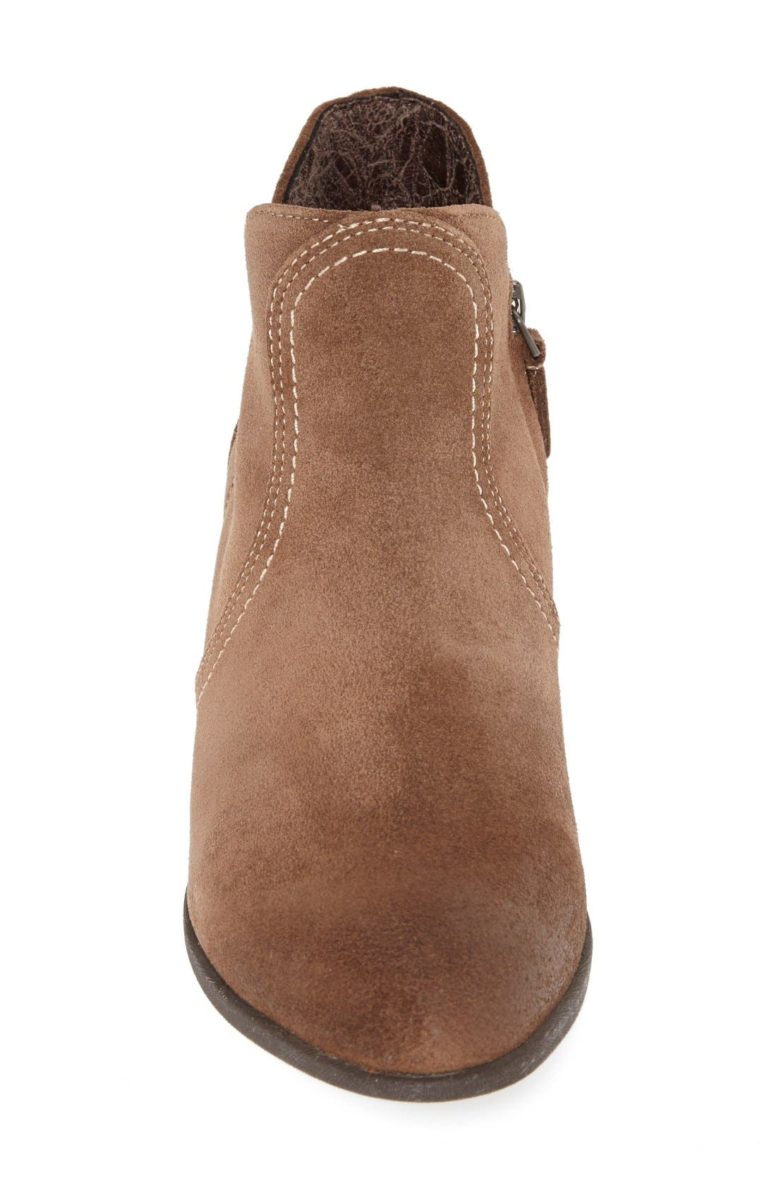 'Astor' Suede Ankle Bootie,                             Alternate thumbnail 3, color,                             201