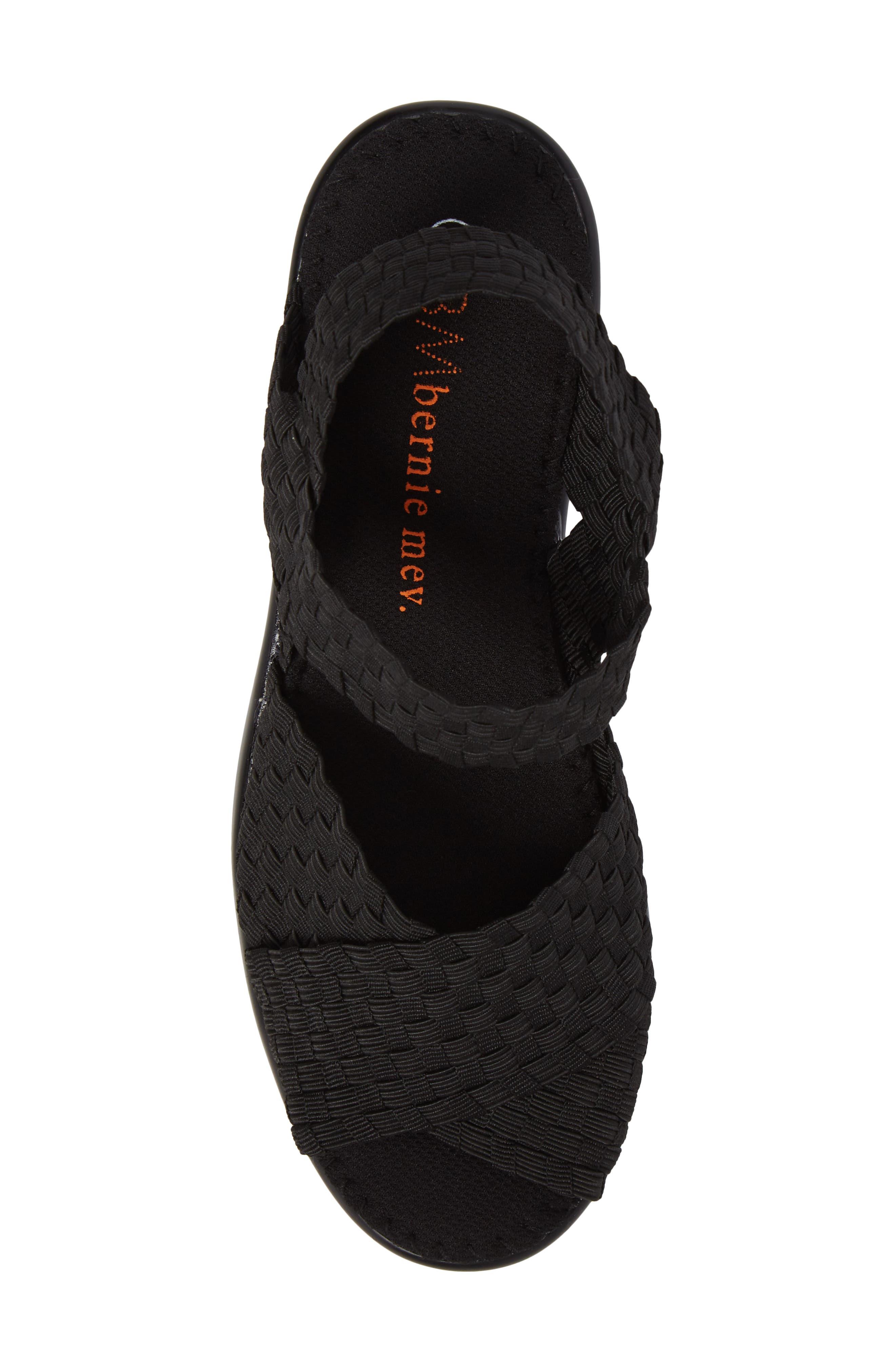 Fresh Buttercup Sandal,                             Alternate thumbnail 5, color,                             BLACK FABRIC