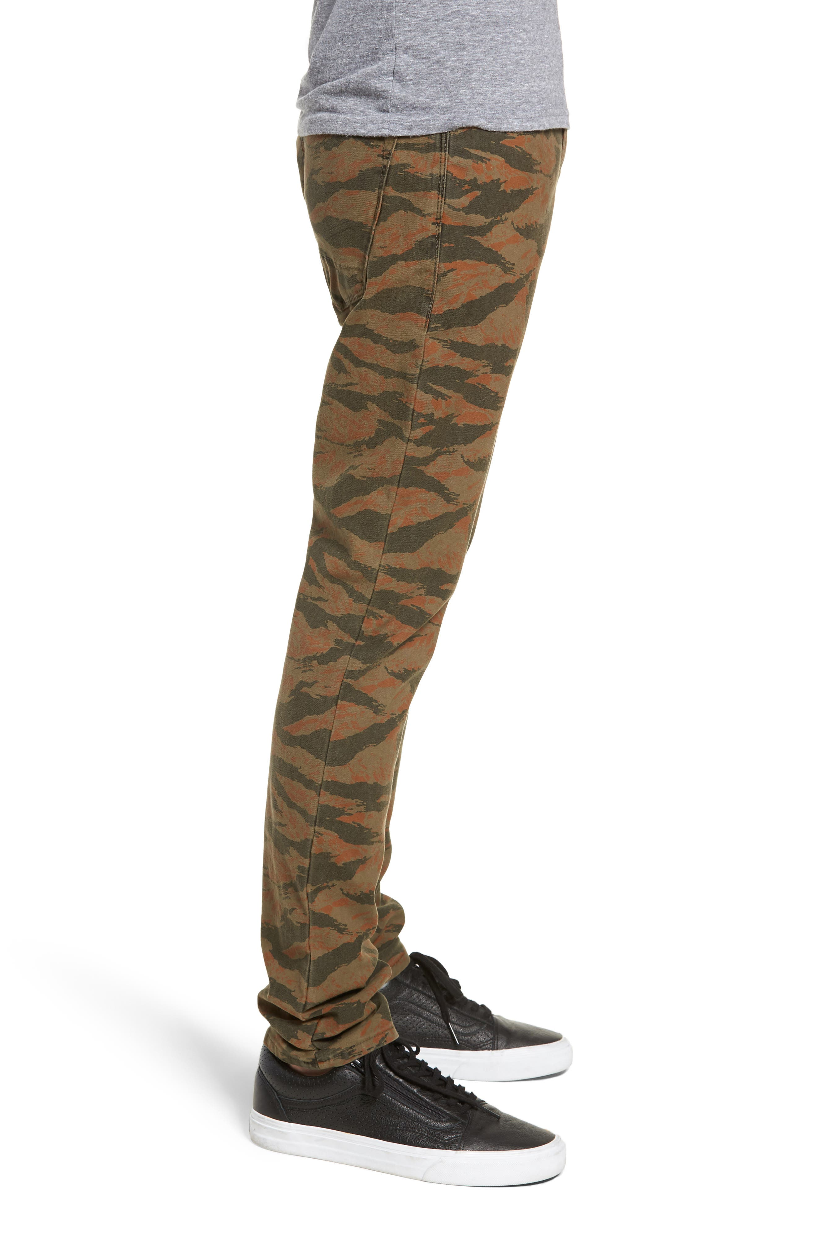 Axl Skinny Fit Jeans,                             Alternate thumbnail 3, color,                             TIGER CAMO