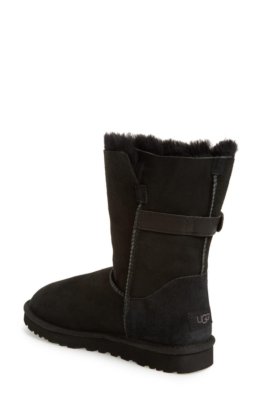 UGG<SUP>®</SUP>,                             Nash Genuine Shearling Boot,                             Alternate thumbnail 3, color,                             001