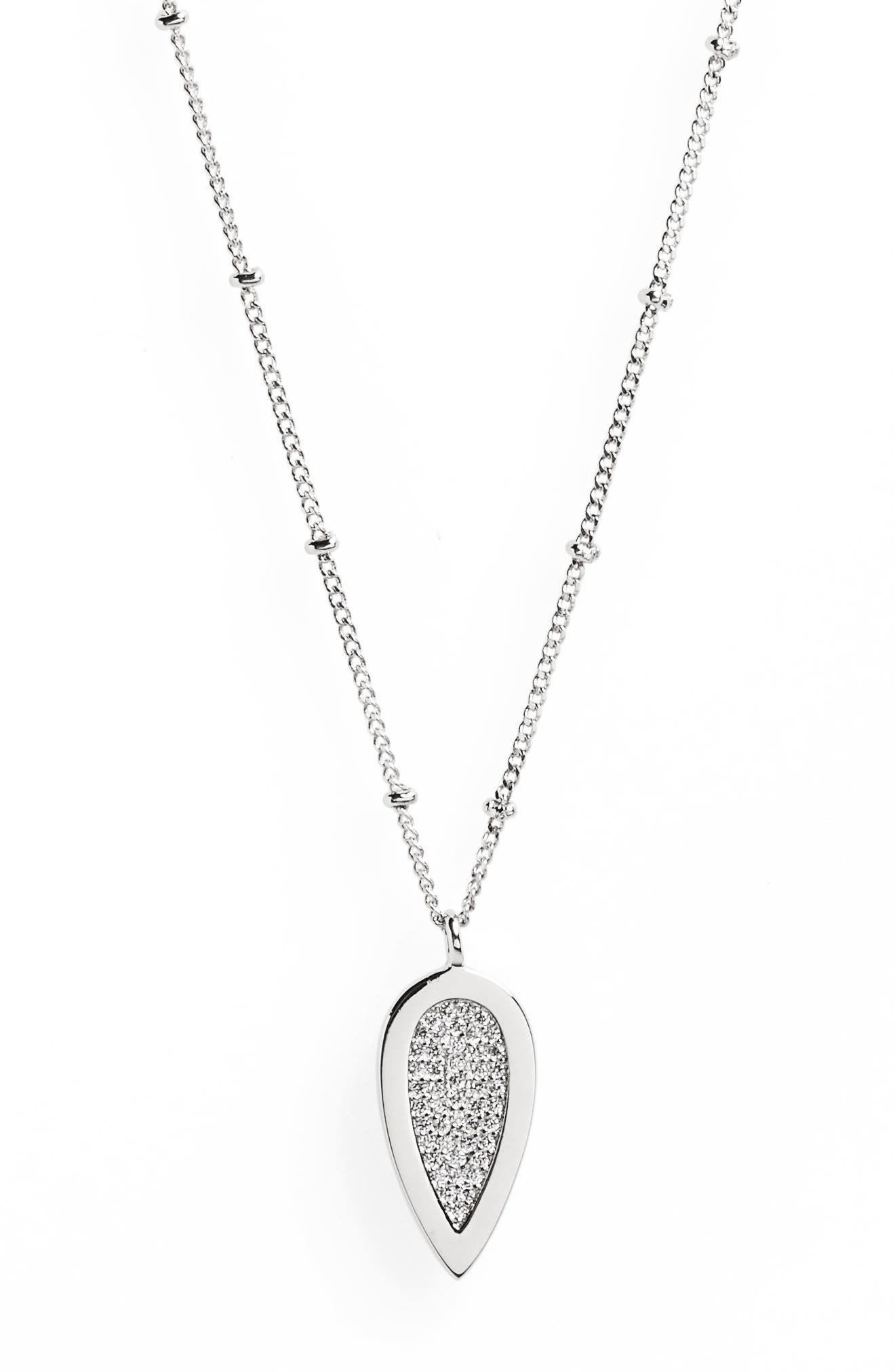 Teardrop Pendant Necklace,                         Main,                         color, 040