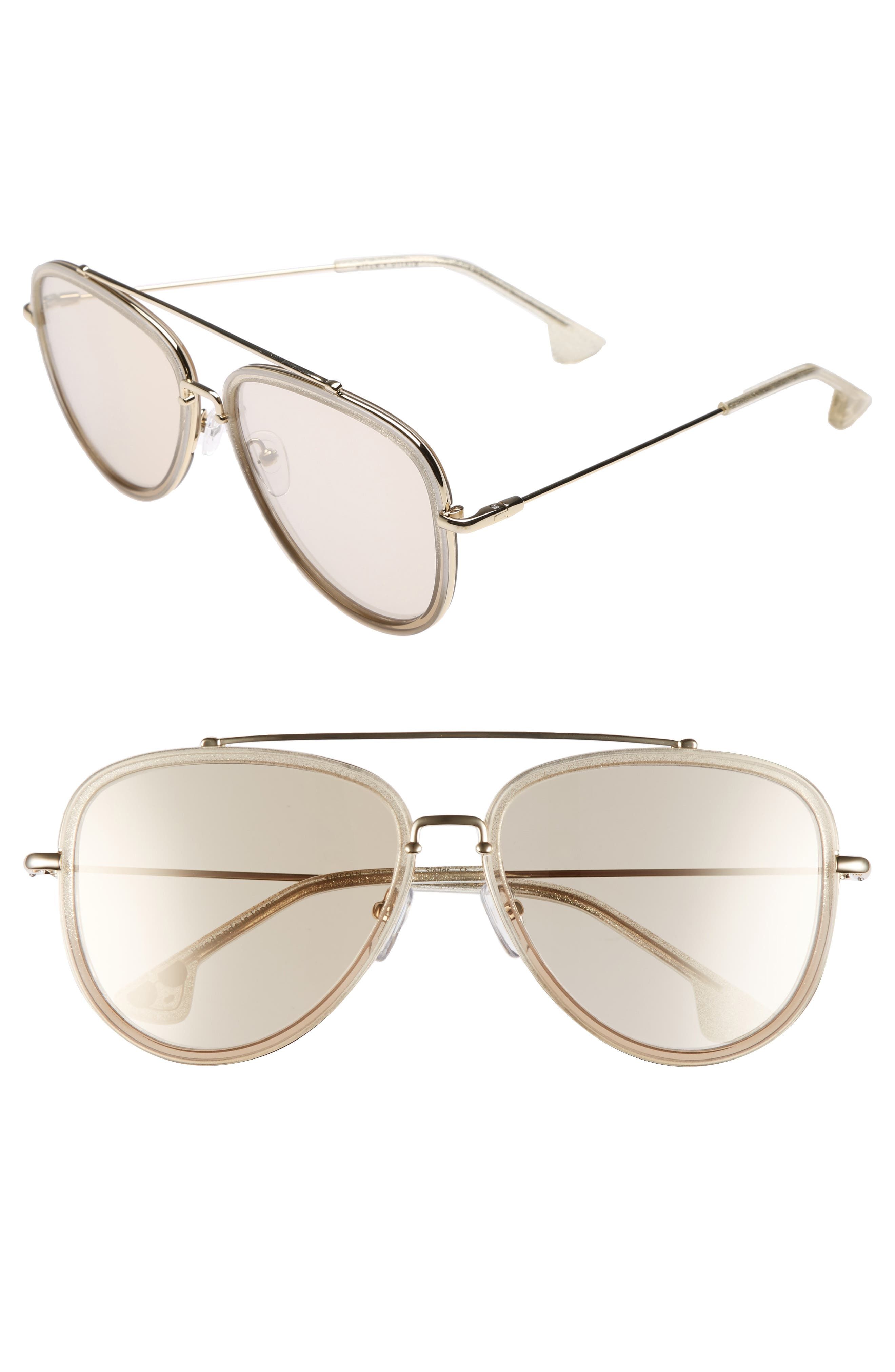 Lincoln 58mm Aviator Sunglasses,                             Main thumbnail 4, color,
