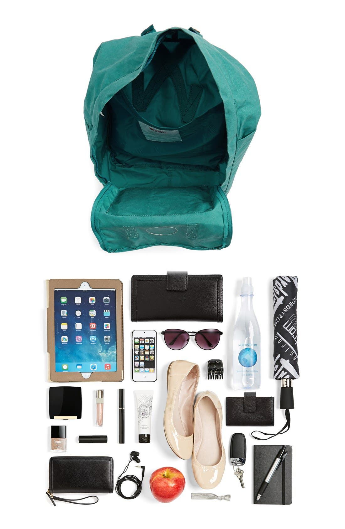 'Kånken' Water Resistant Backpack,                             Alternate thumbnail 10, color,                             GLACIER GREEN