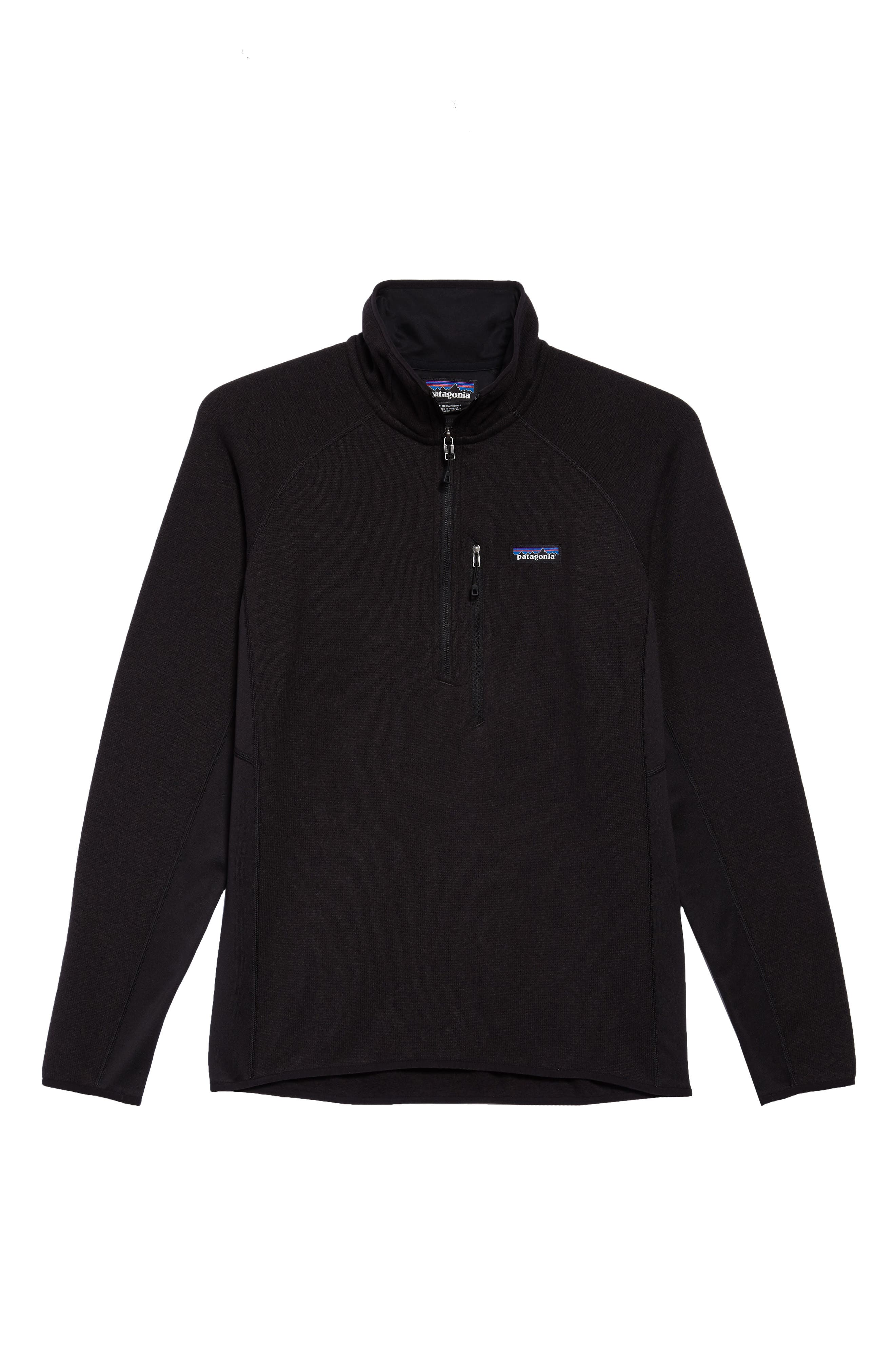 Better Sweater<sup>®</sup> Performance Slim Quarter-Zip Pullover,                             Alternate thumbnail 6, color,                             BLACK