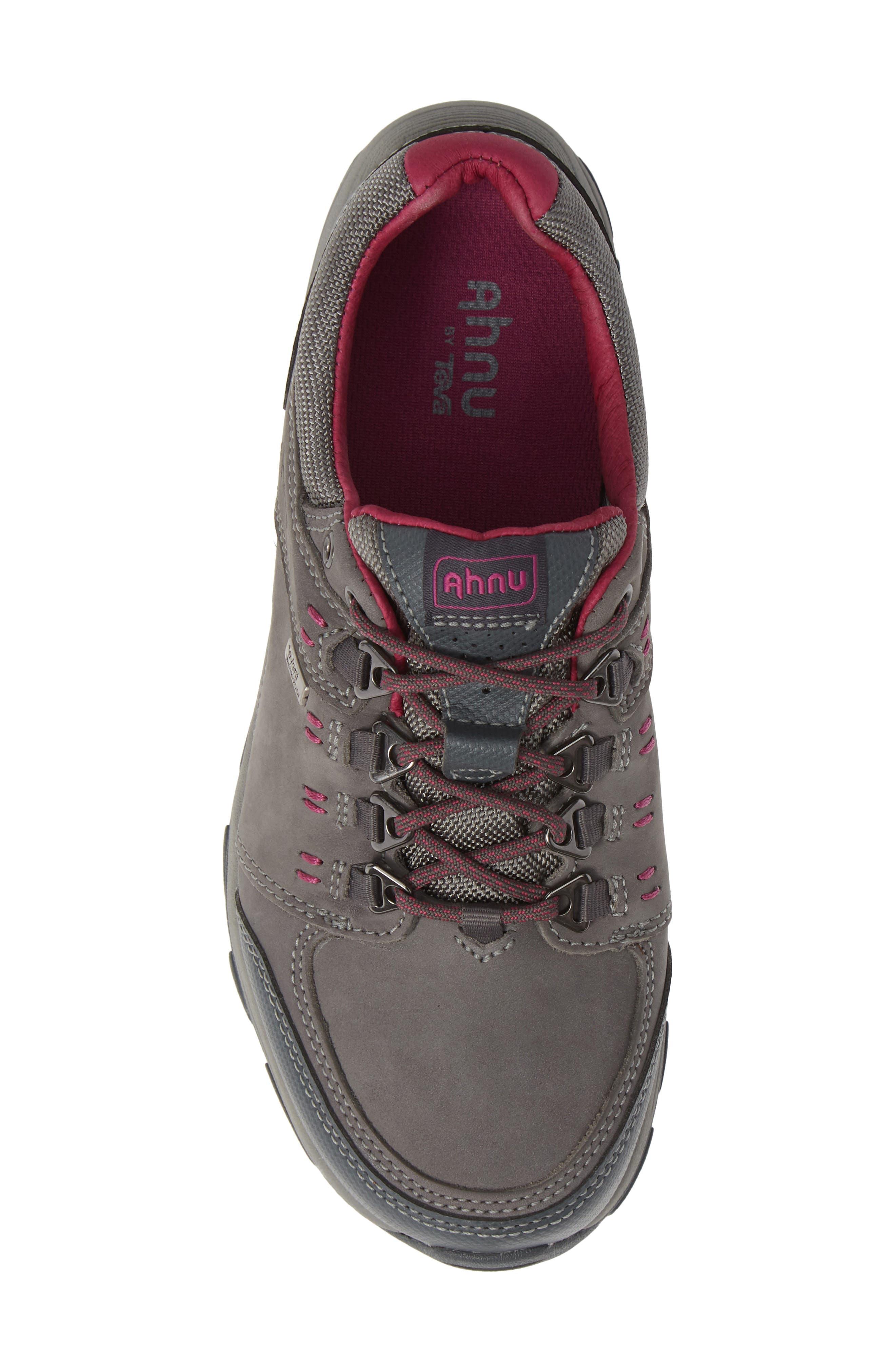 TEVA,                             Ahnu by Teva Montara III Waterproof Hiking Sneaker,                             Alternate thumbnail 5, color,                             CHARCOAL GRAY NUBUCK LEATHER