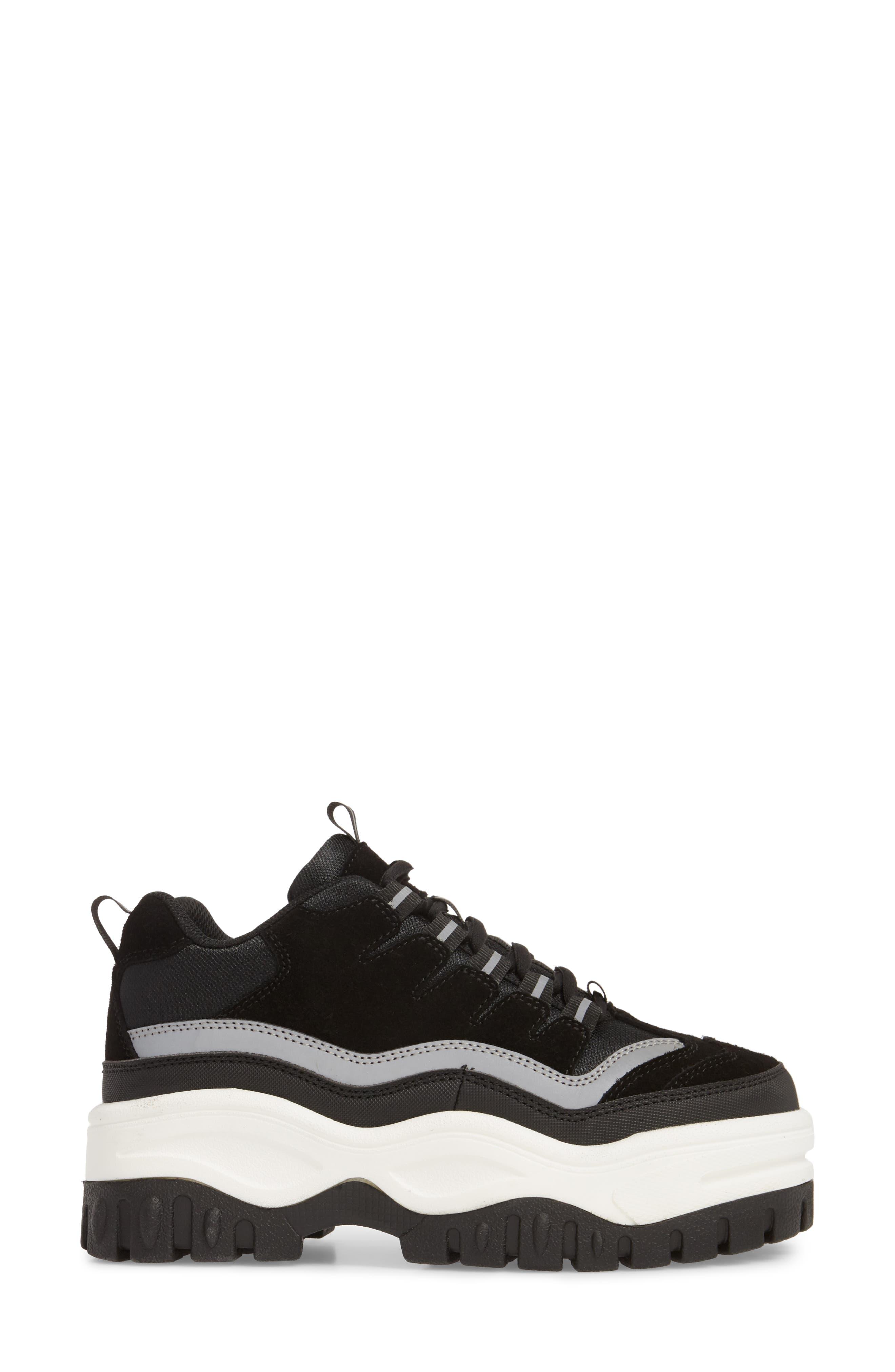 Pro Era Platform Sneaker,                             Alternate thumbnail 3, color,                             BLACK SUEDE REFLECTIVE