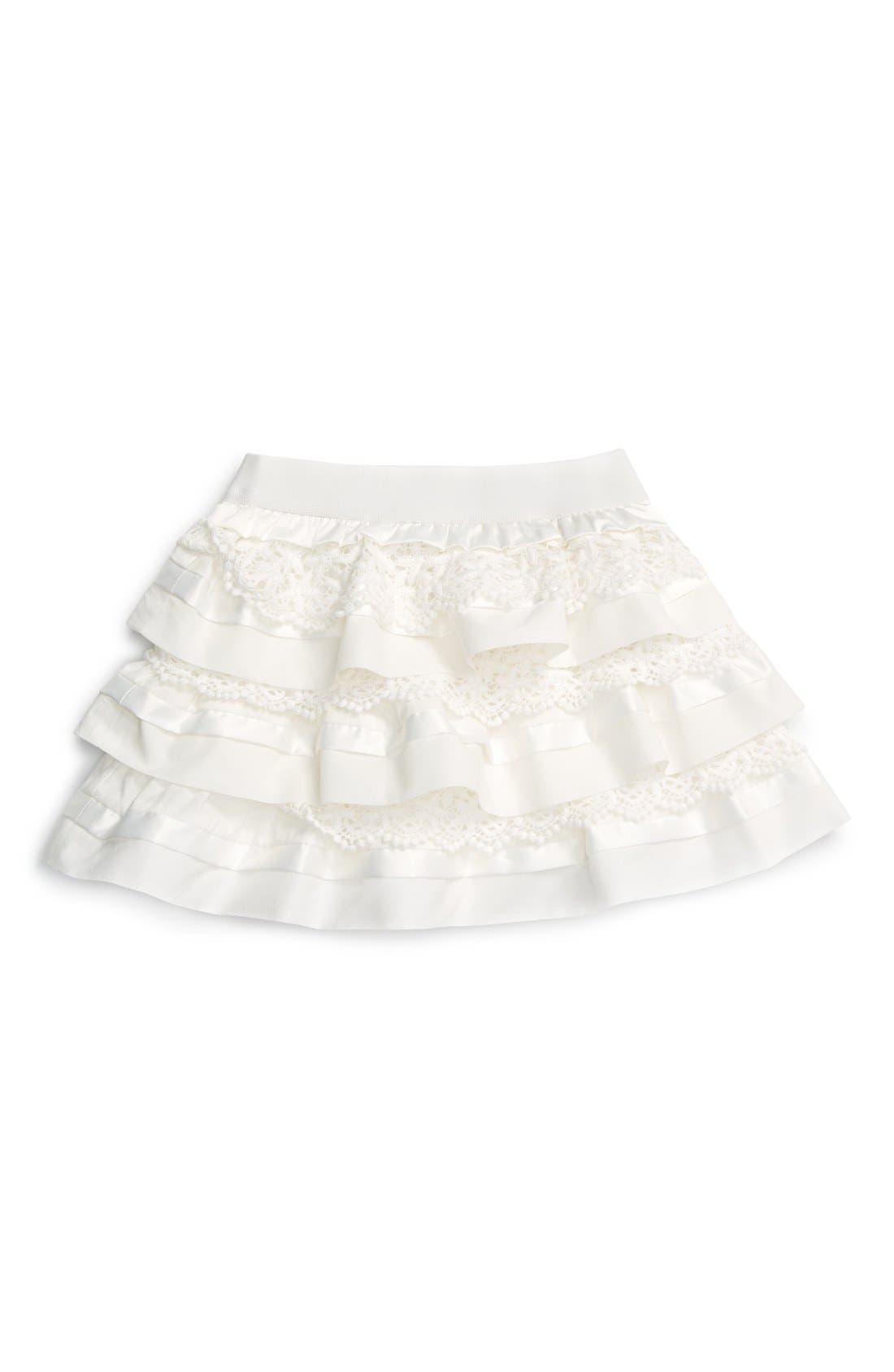 'Macarena Ra Ra' Tiered Ruffle Skirt, Main, color, 900