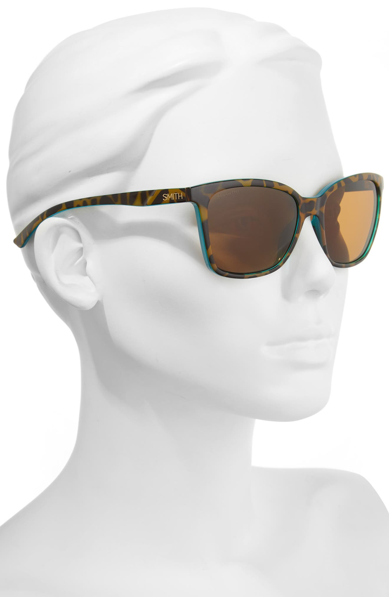 'Colette' 55mm ChromaPop<sup>™</sup> Polarized Sunglasses,                             Alternate thumbnail 2, color,                             TORTOISE MARINE