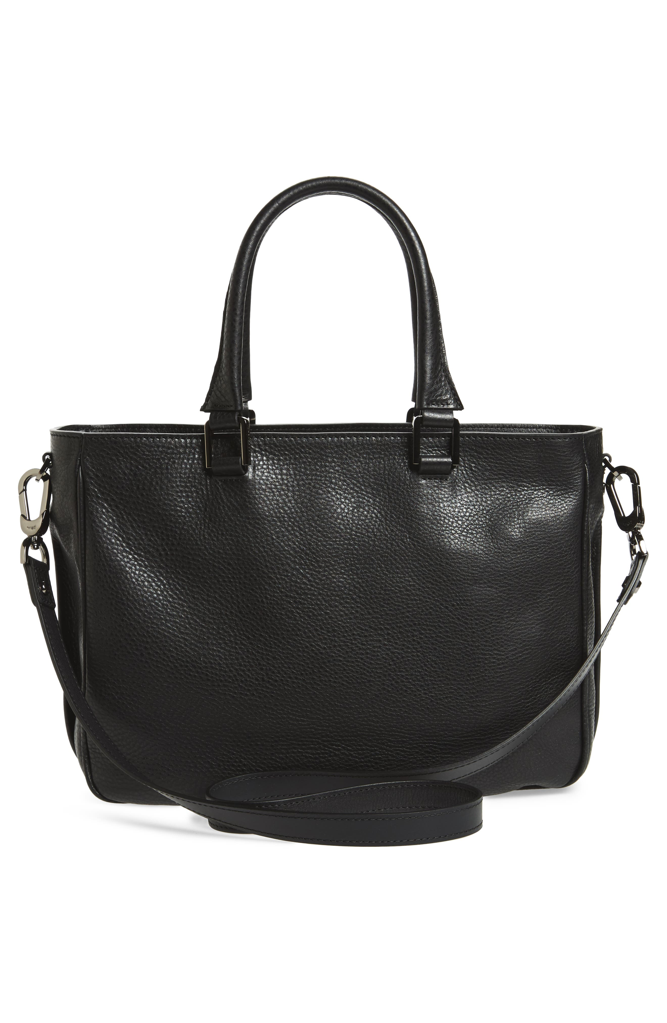 Mystery Leather Satchel,                             Alternate thumbnail 3, color,                             001