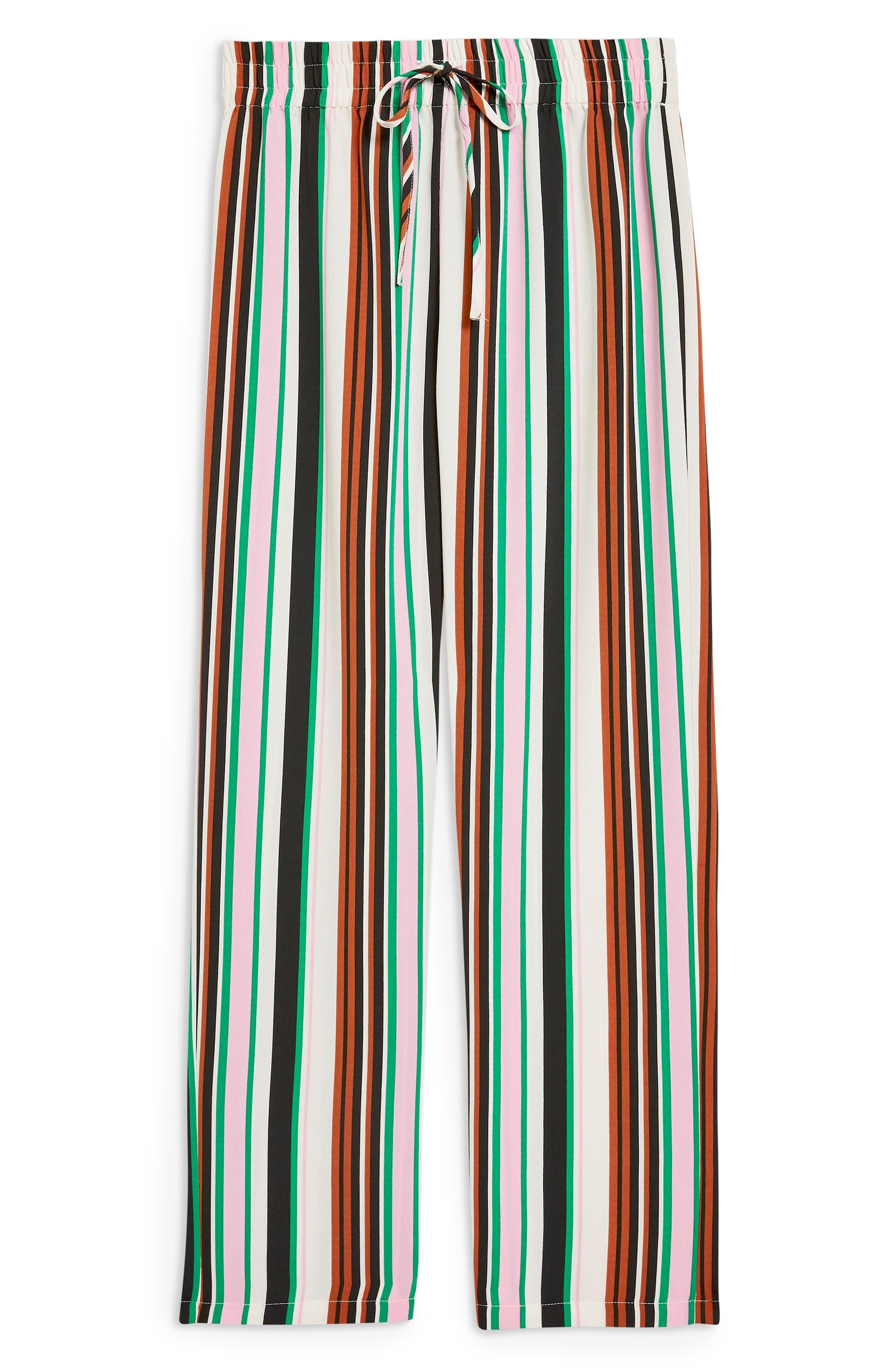 Stripe Slouch Pants,                             Alternate thumbnail 4, color,                             IVORY MULTI