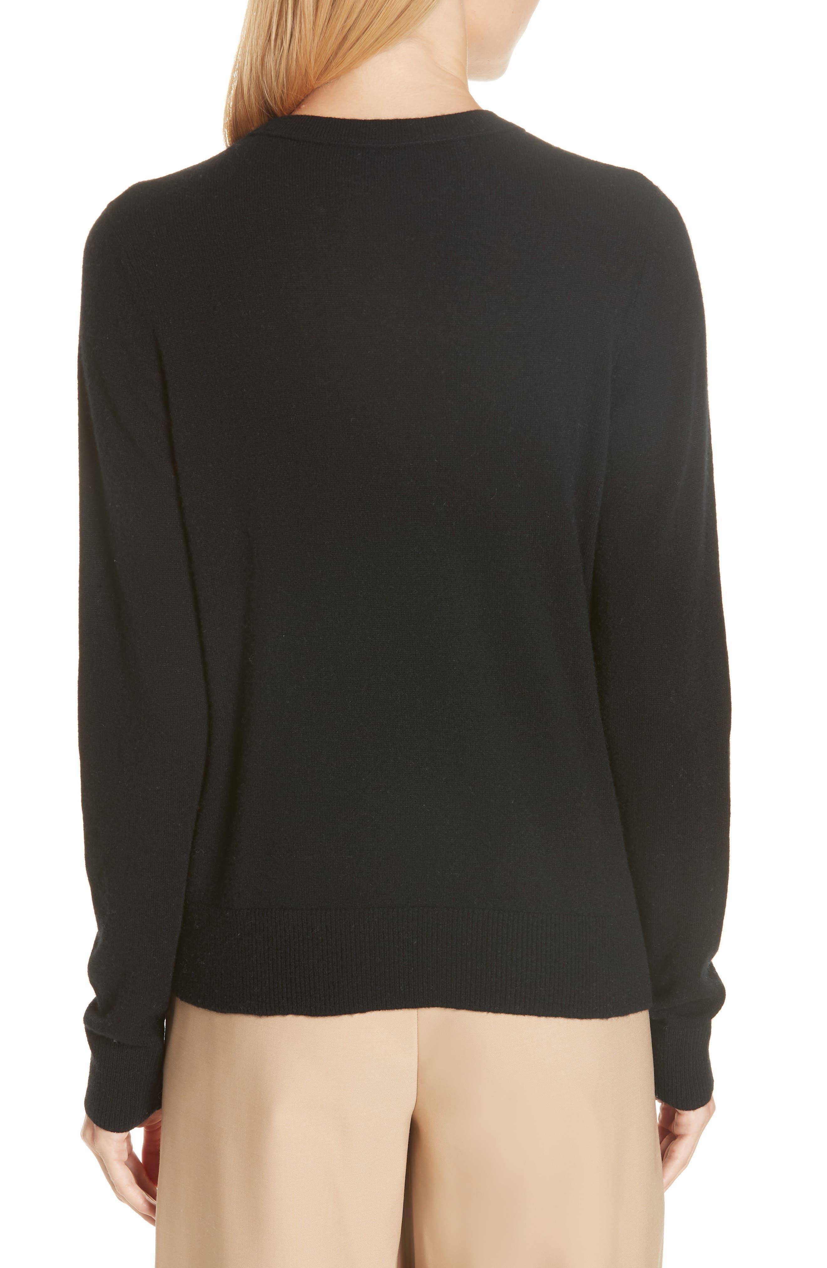Cashmere Sweater,                             Alternate thumbnail 2, color,                             BLACK