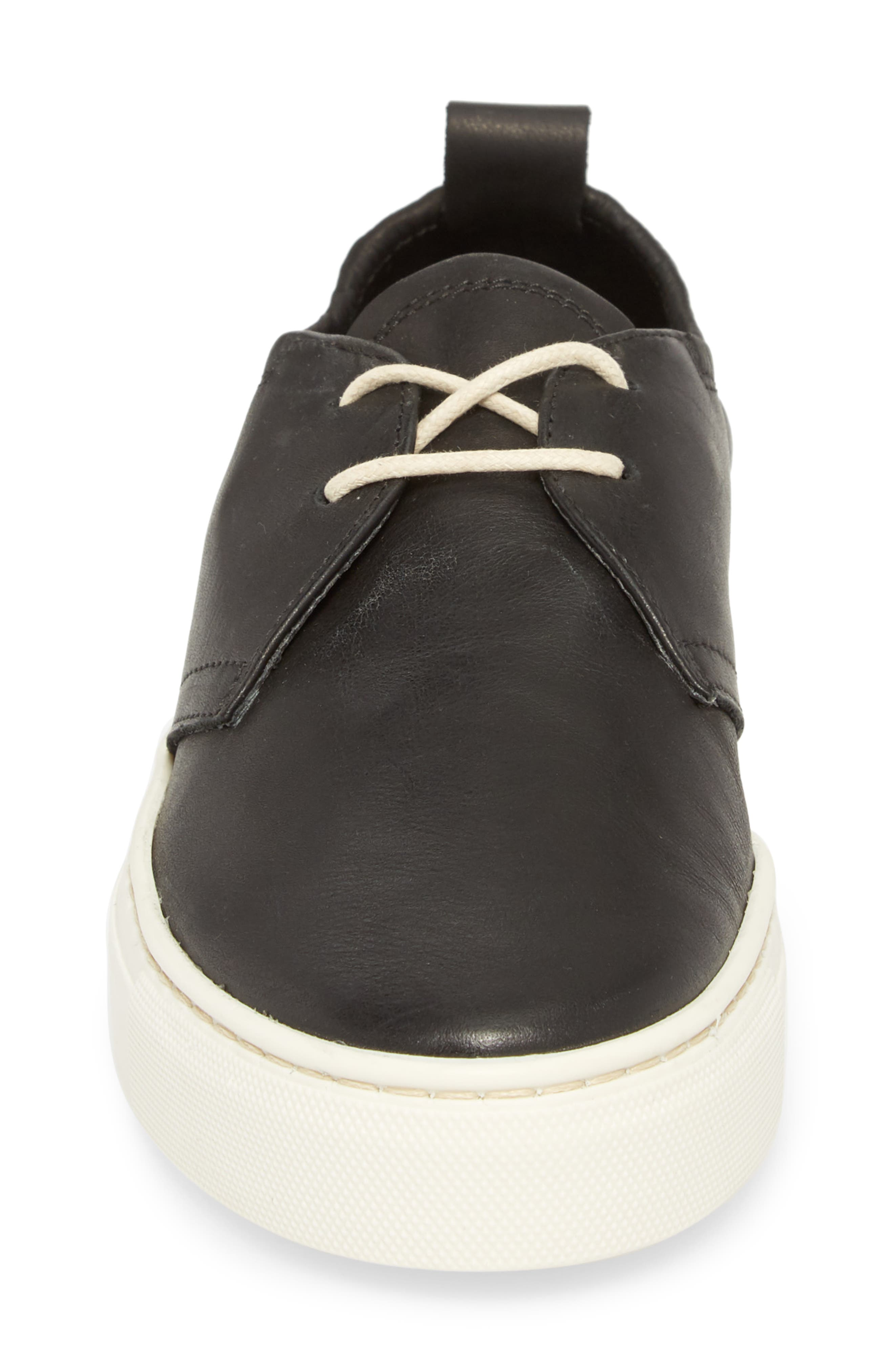 Sneak Up Sneaker,                             Alternate thumbnail 4, color,                             BLACK LEATHER