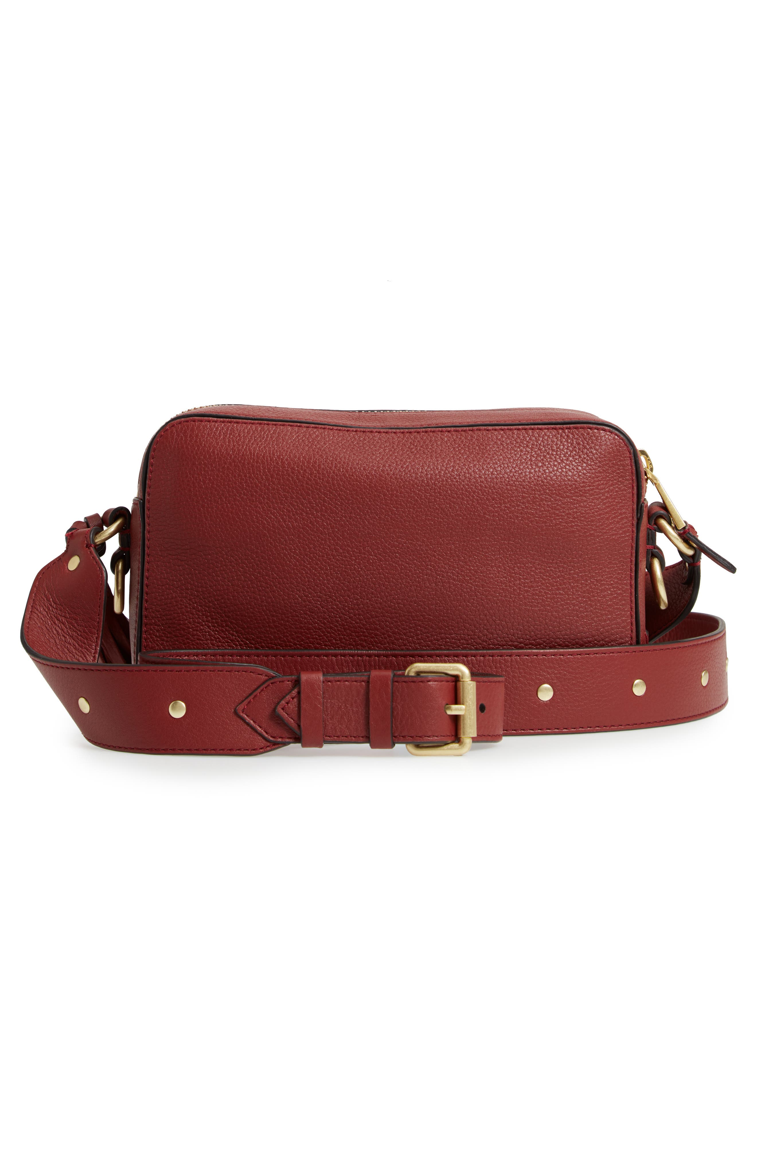 Cassidy RFID Pebbled Leather Camera Bag,                             Alternate thumbnail 10, color,