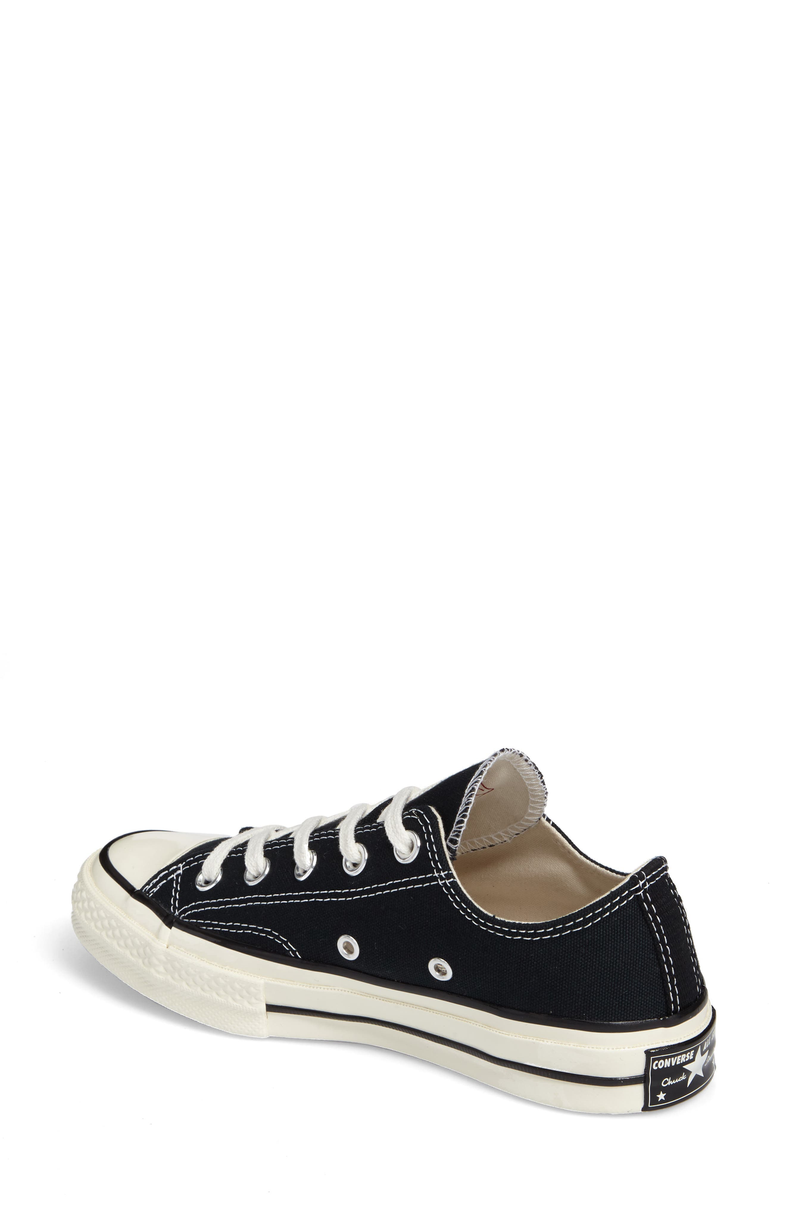 Chuck Taylor<sup>®</sup> All Star<sup>®</sup> Ox Low Top Sneaker,                             Alternate thumbnail 2, color,                             BLACK