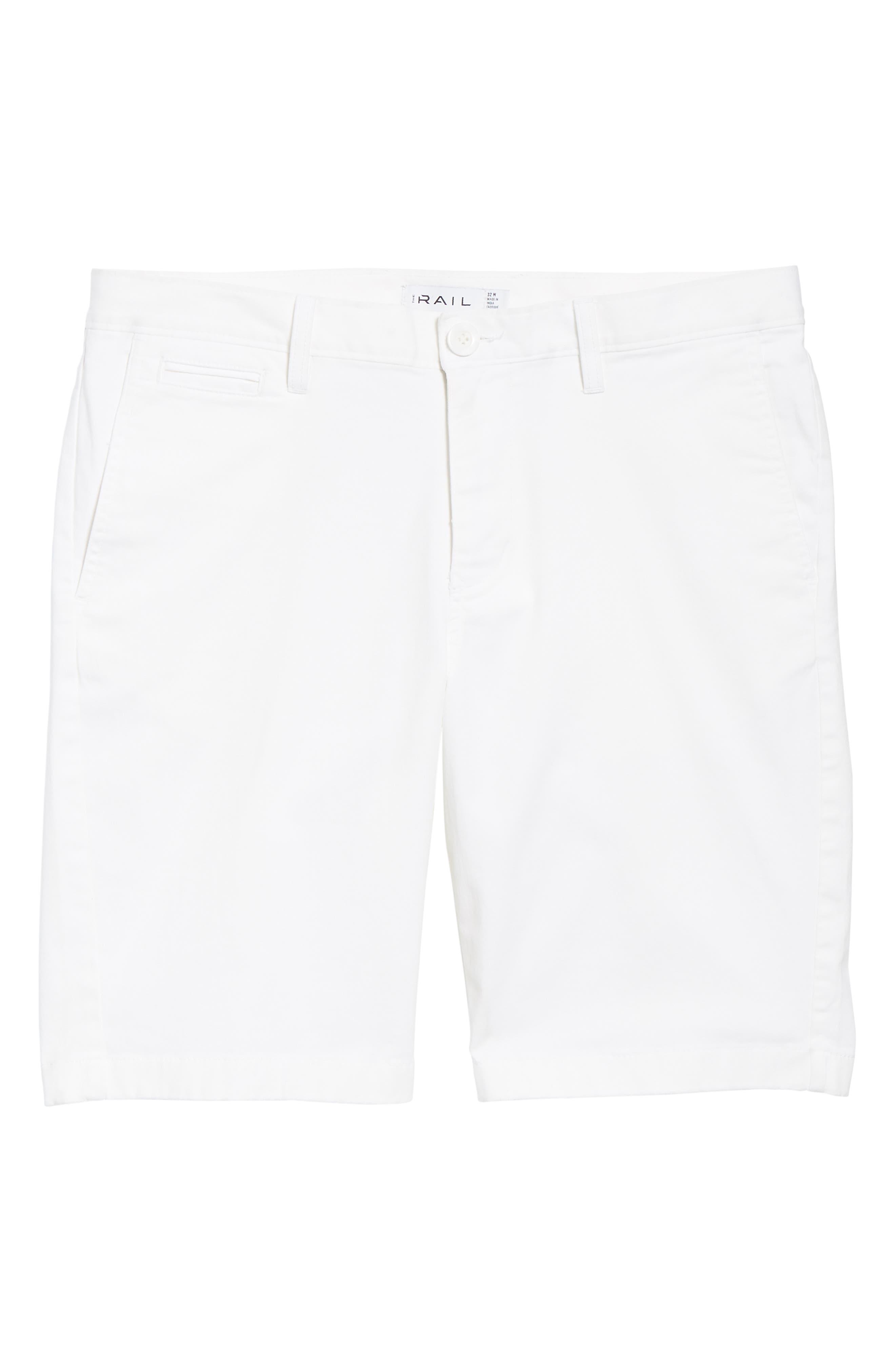 Flat Front Shorts,                             Alternate thumbnail 6, color,                             WHITE