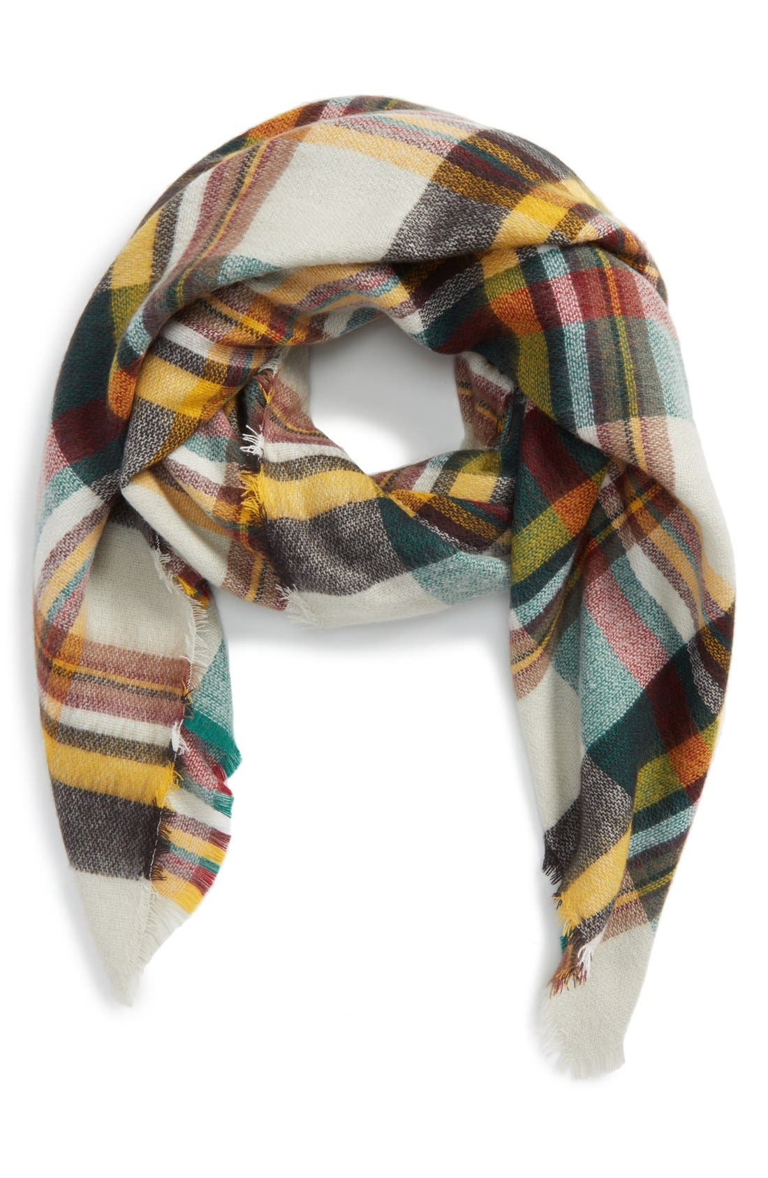 'Moore' Plaid Scarf, Main, color, 001