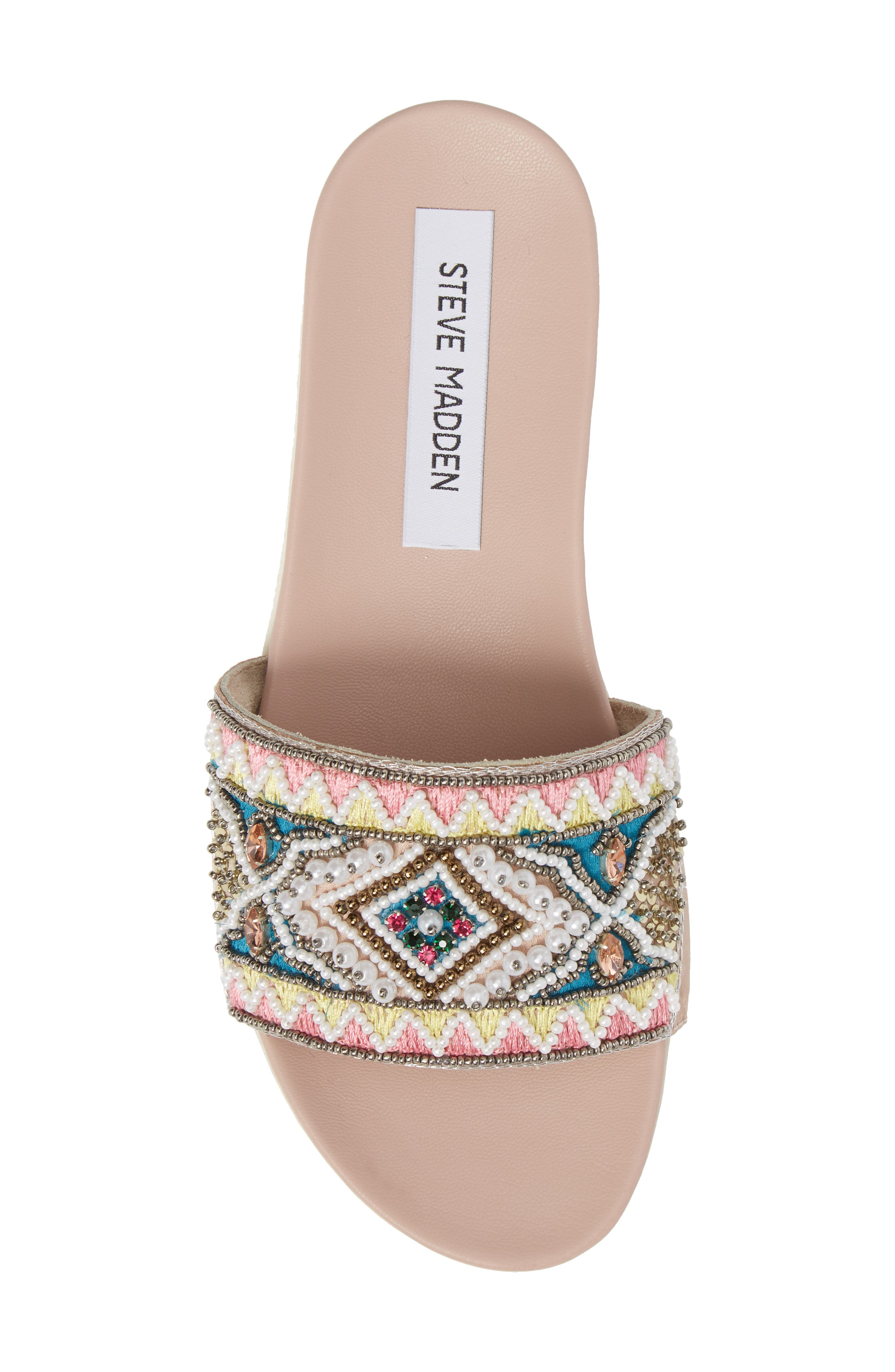 Thalia Beaded Slide Sandal,                             Alternate thumbnail 5, color,                             400