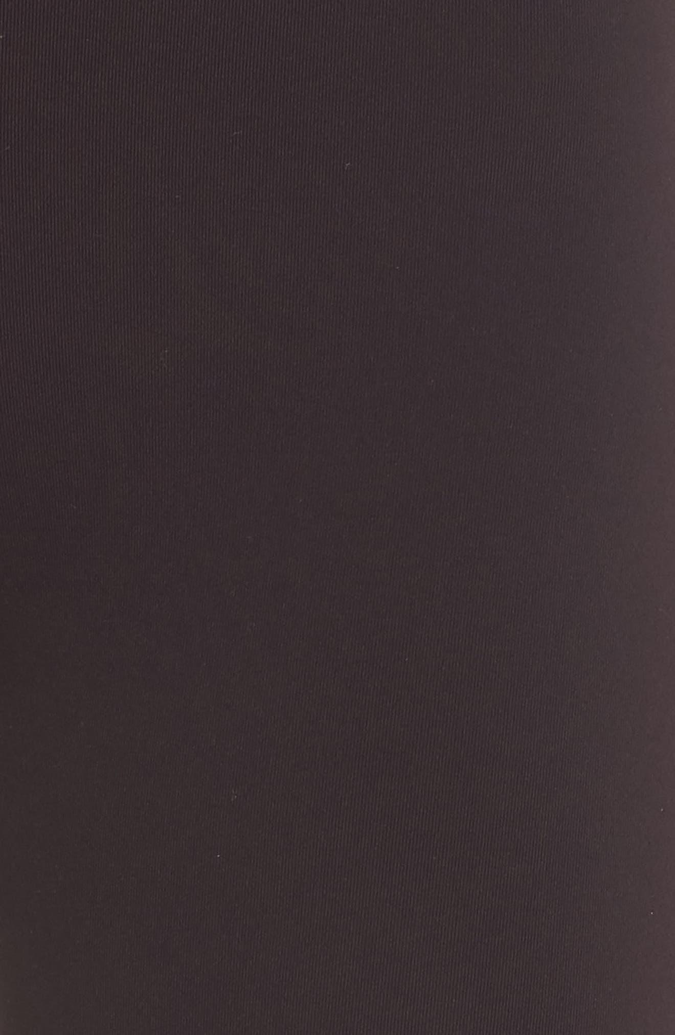 Midfield Leggings,                             Alternate thumbnail 6, color,                             DARK WALNUT/ OFF WHITE