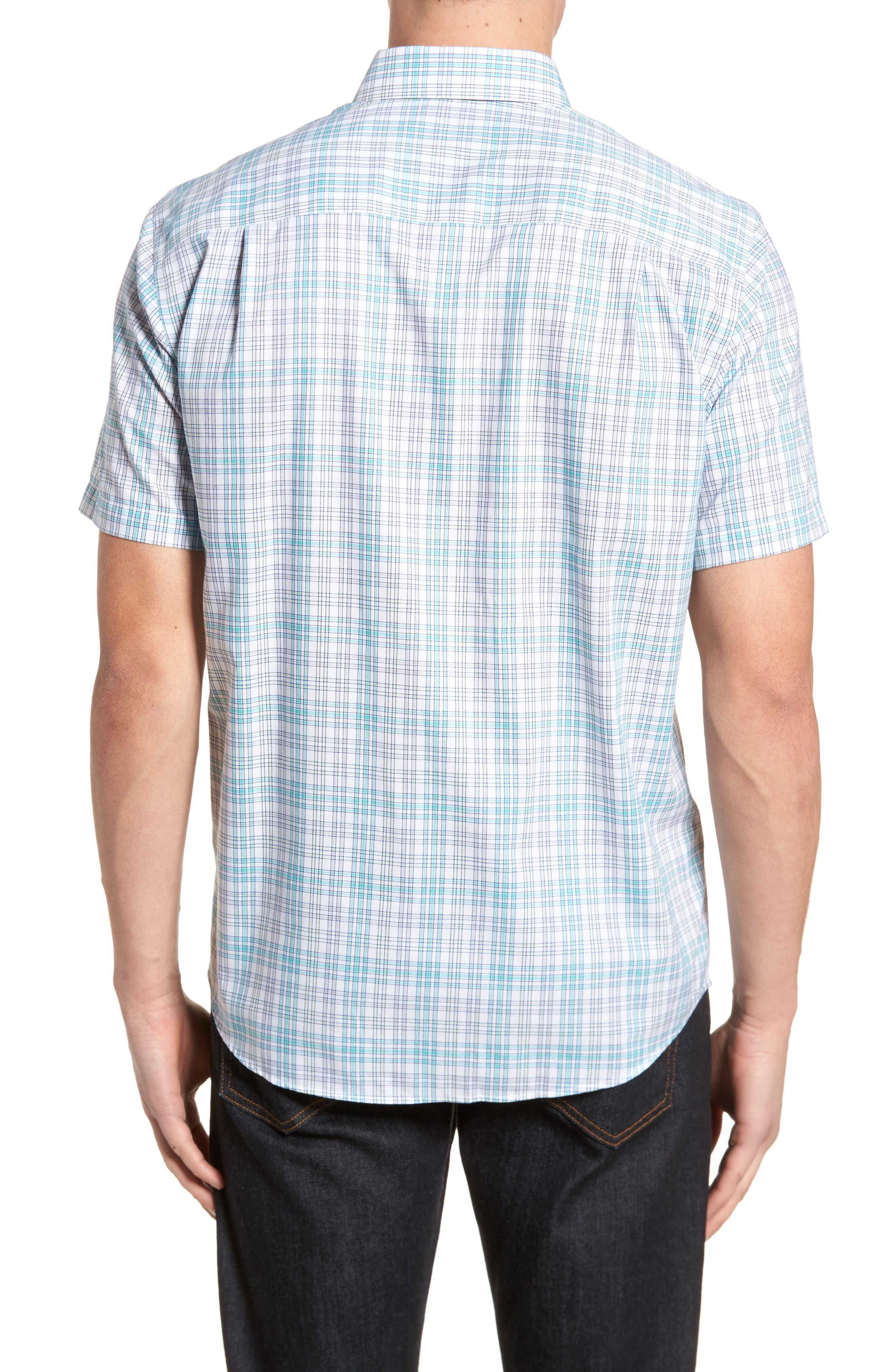 Isaac Plaid Easy Care Woven Shirt,                             Alternate thumbnail 2, color,                             328
