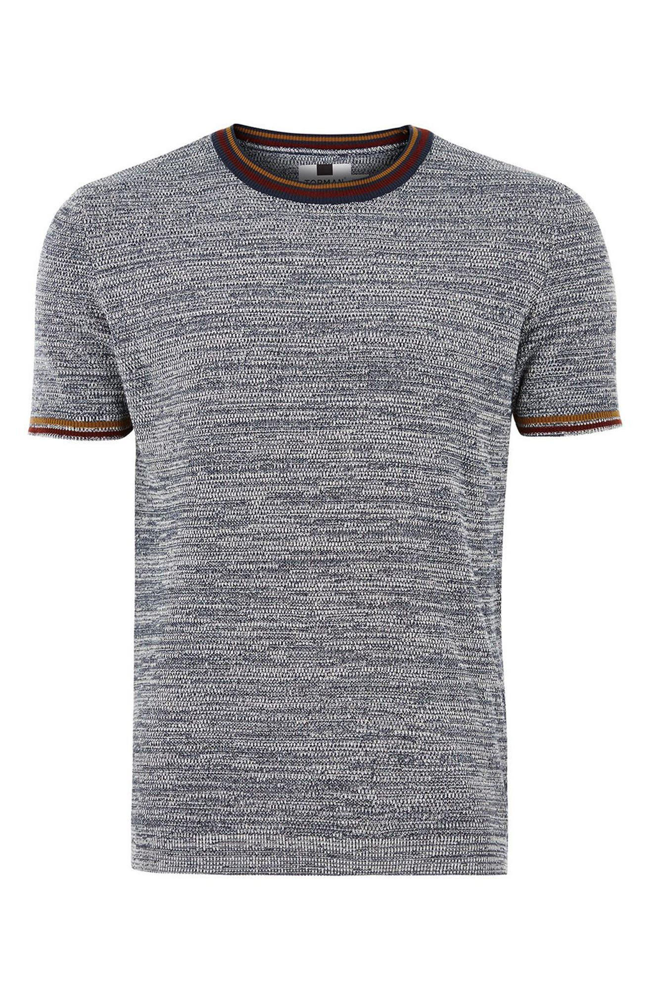 Slim Fit Knit T-Shirt,                             Alternate thumbnail 4, color,                             020