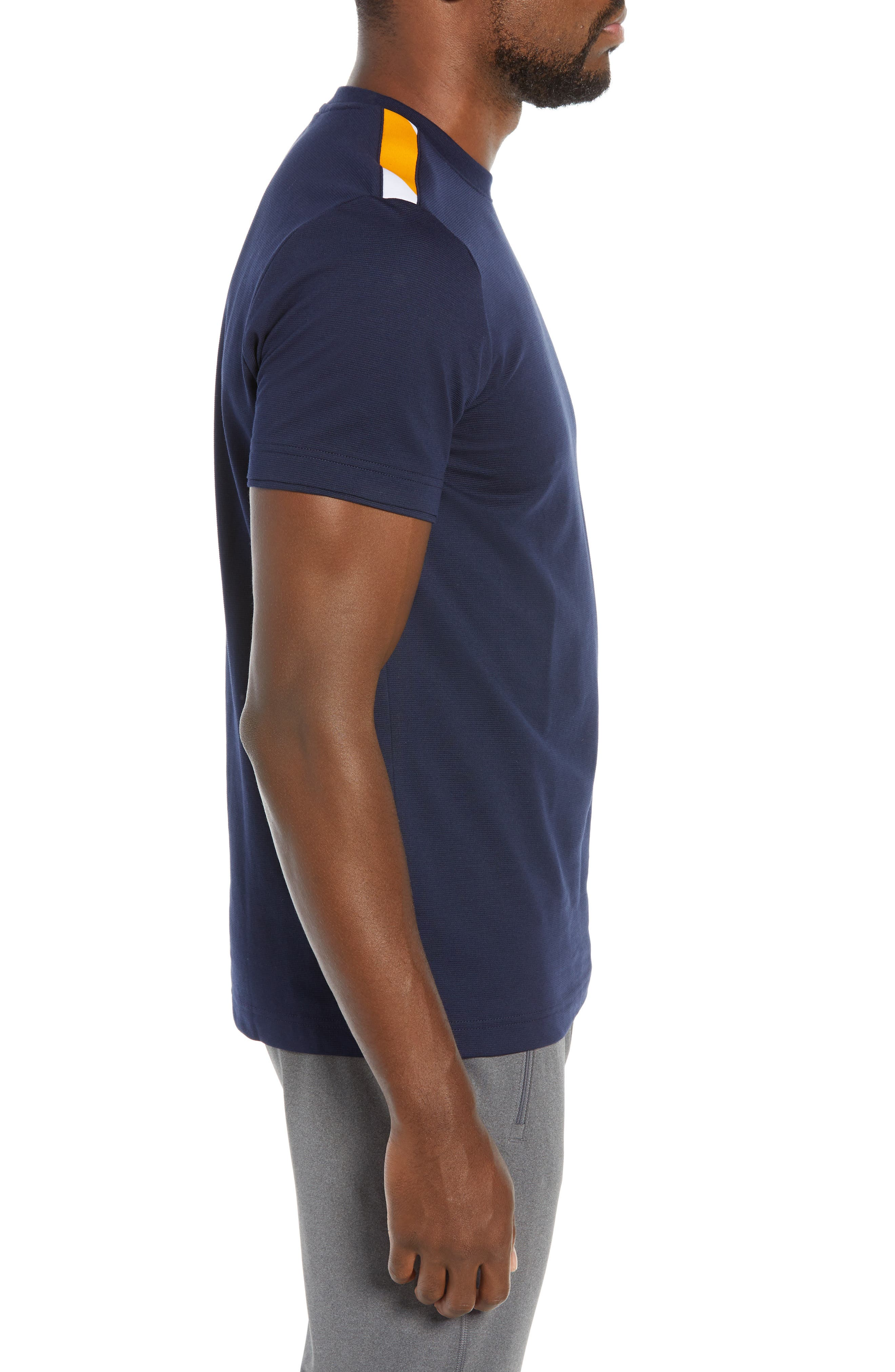 Sport Regular Fit Cotton Tennis T-Shirt,                             Alternate thumbnail 3, color,                             415