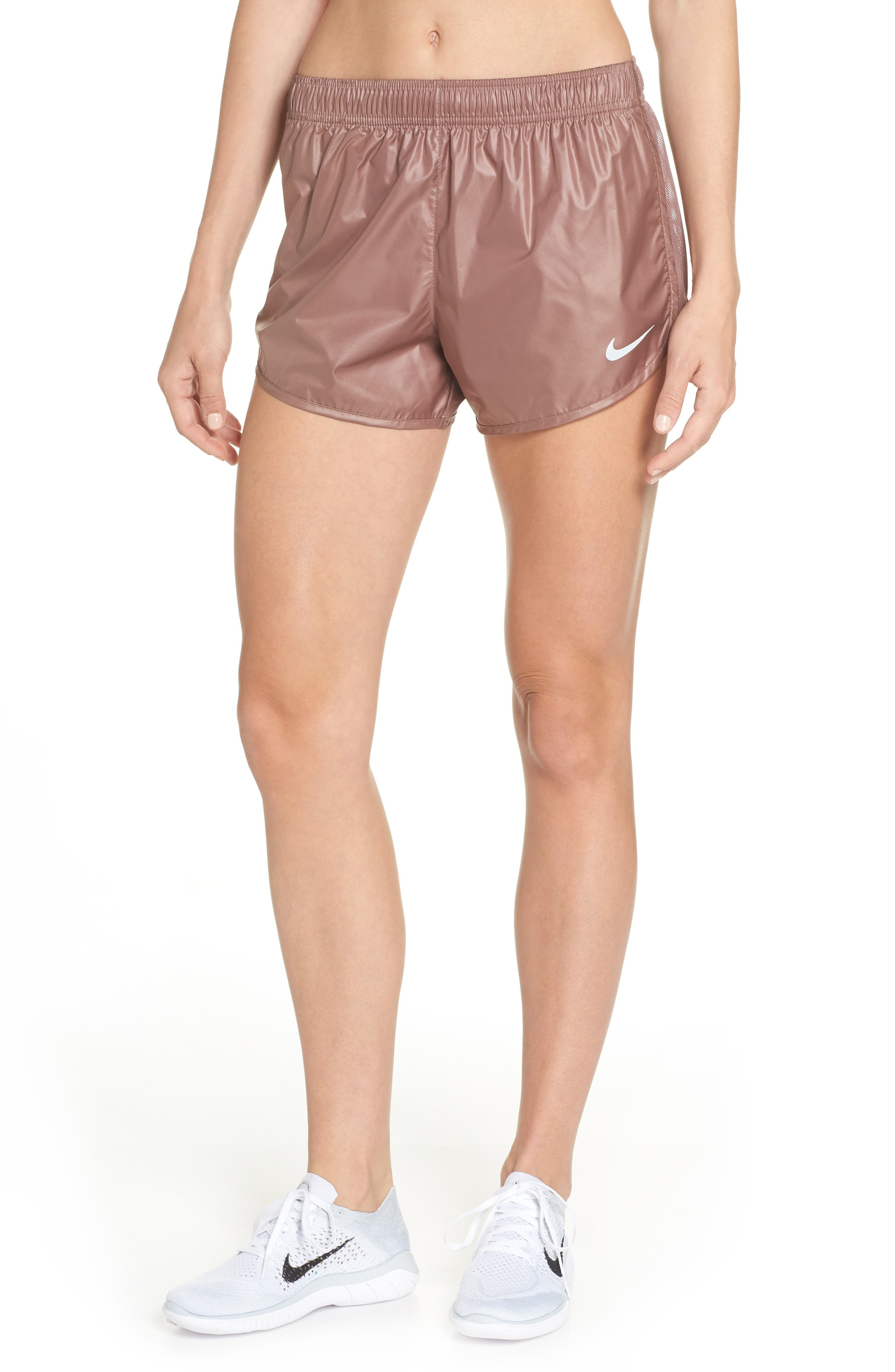 Tempo Running Shorts,                         Main,                         color, SMOKEY MAUVE