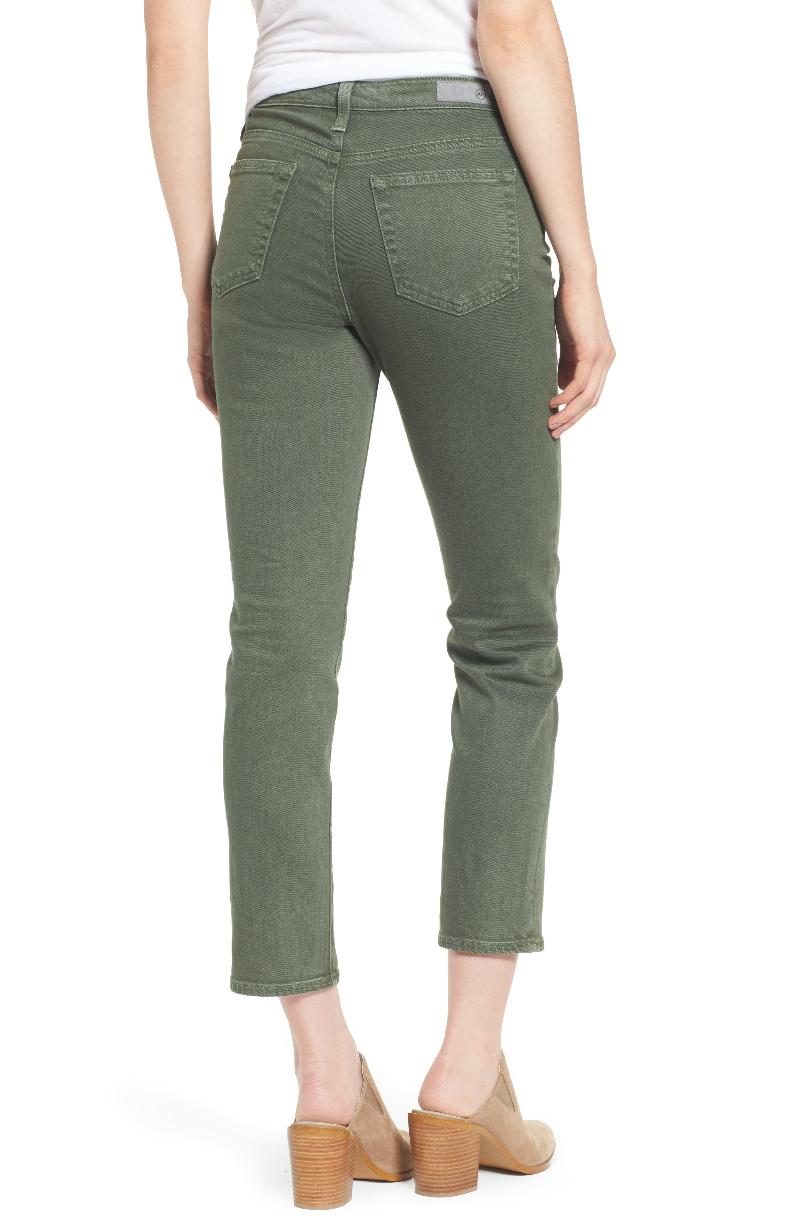 The Isabelle High Waist Crop Straight Leg Jeans,                             Alternate thumbnail 4, color,