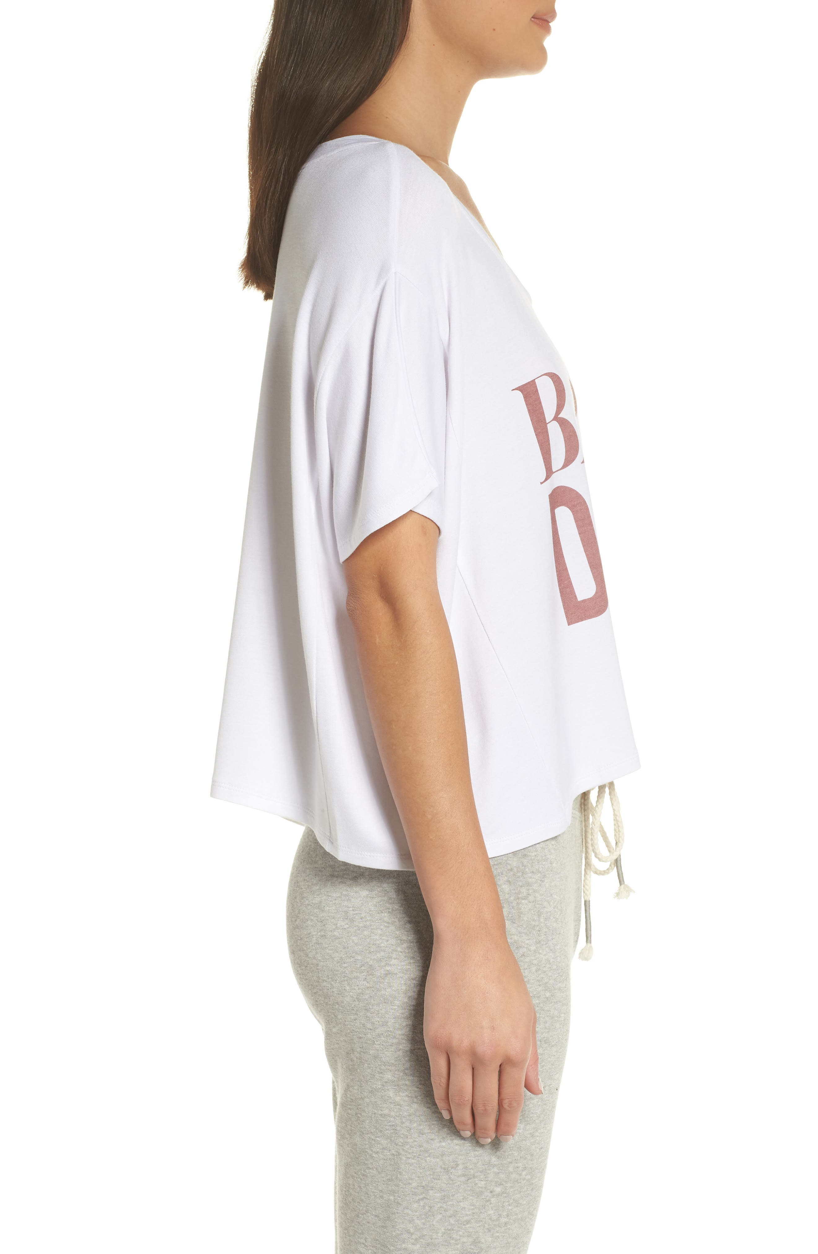 Babes Do It Better Crop Tee,                             Alternate thumbnail 3, color,                             WHITE