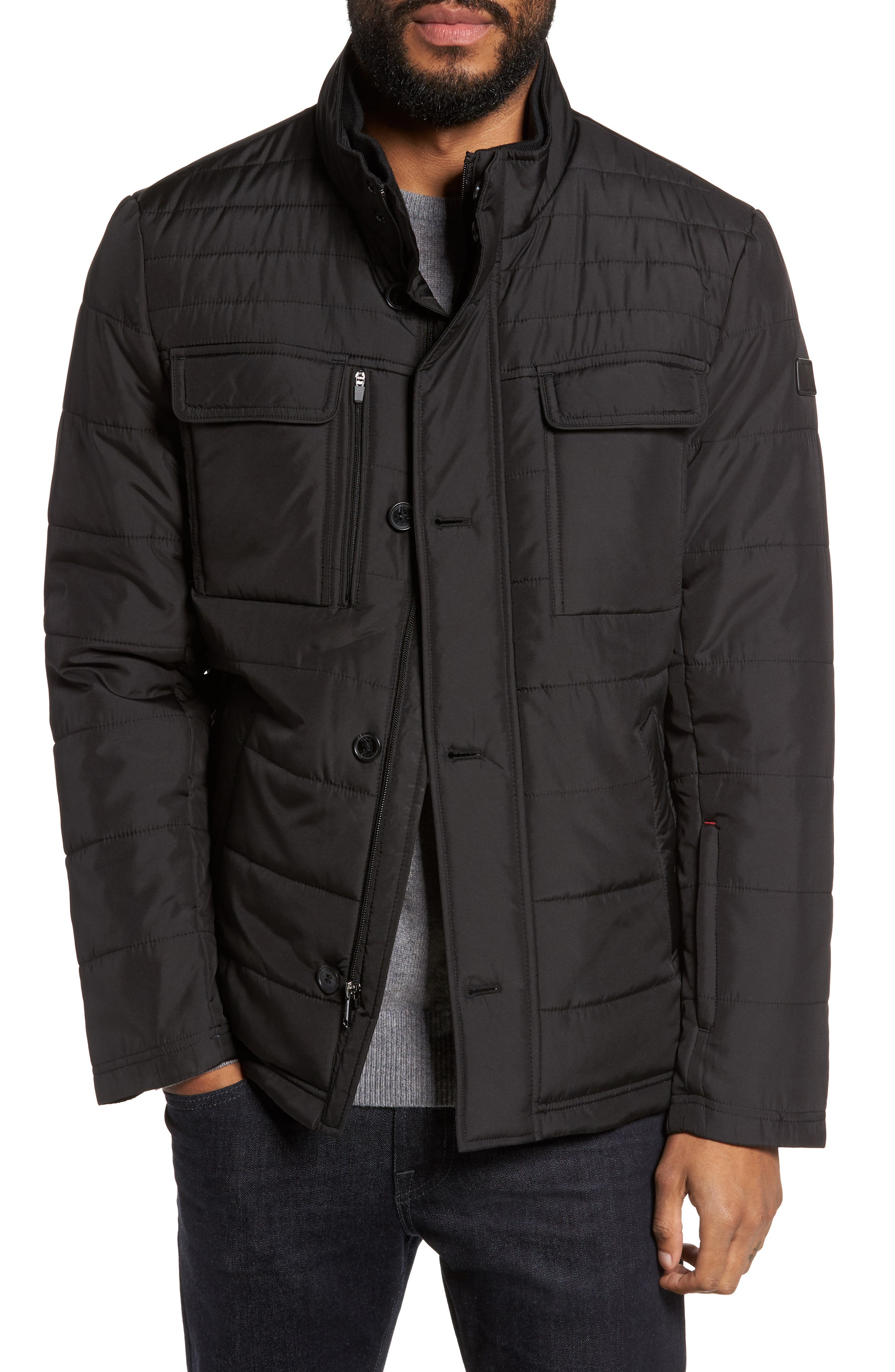 Quilted Jacket,                         Main,                         color, 001