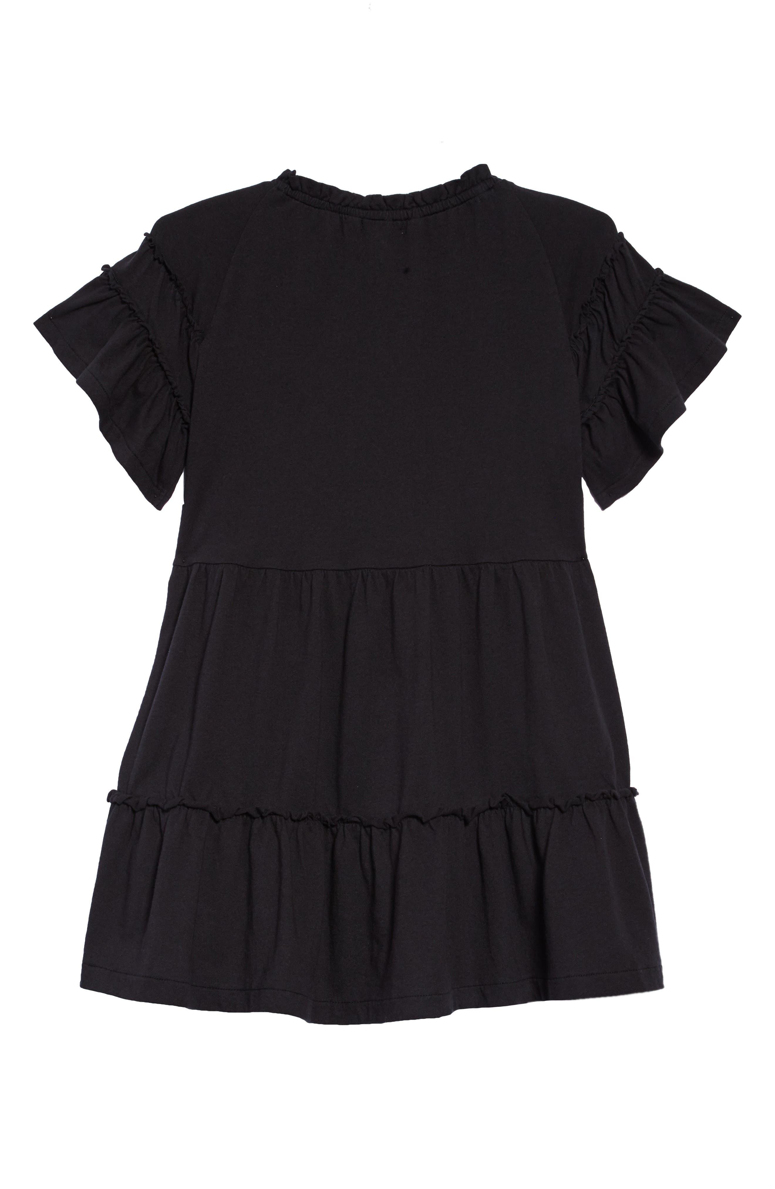 Ruffle T-Shirt Dress,                             Alternate thumbnail 2, color,                             001