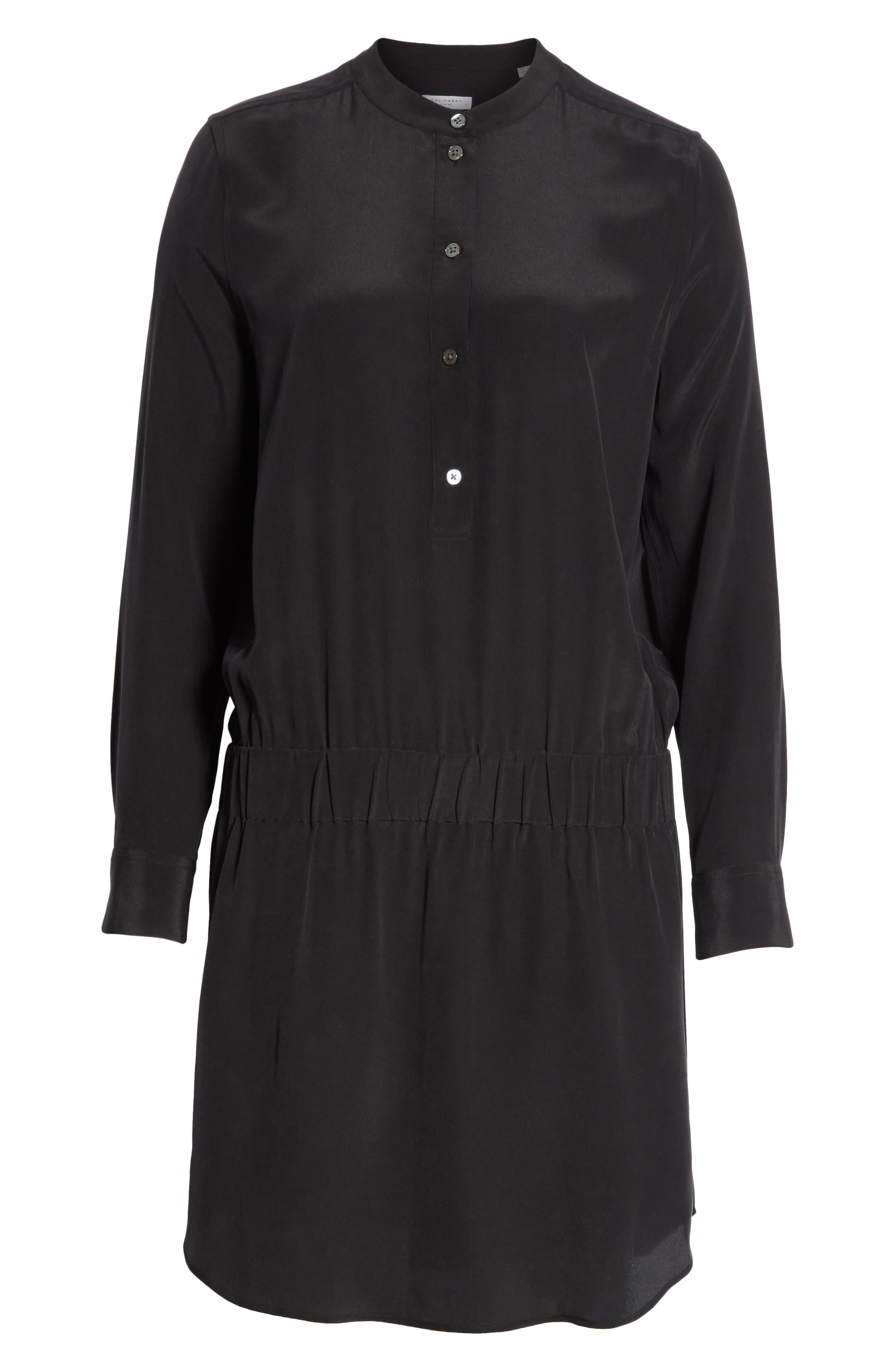 Chelsea Silk Shirtdress,                             Alternate thumbnail 6, color,                             003