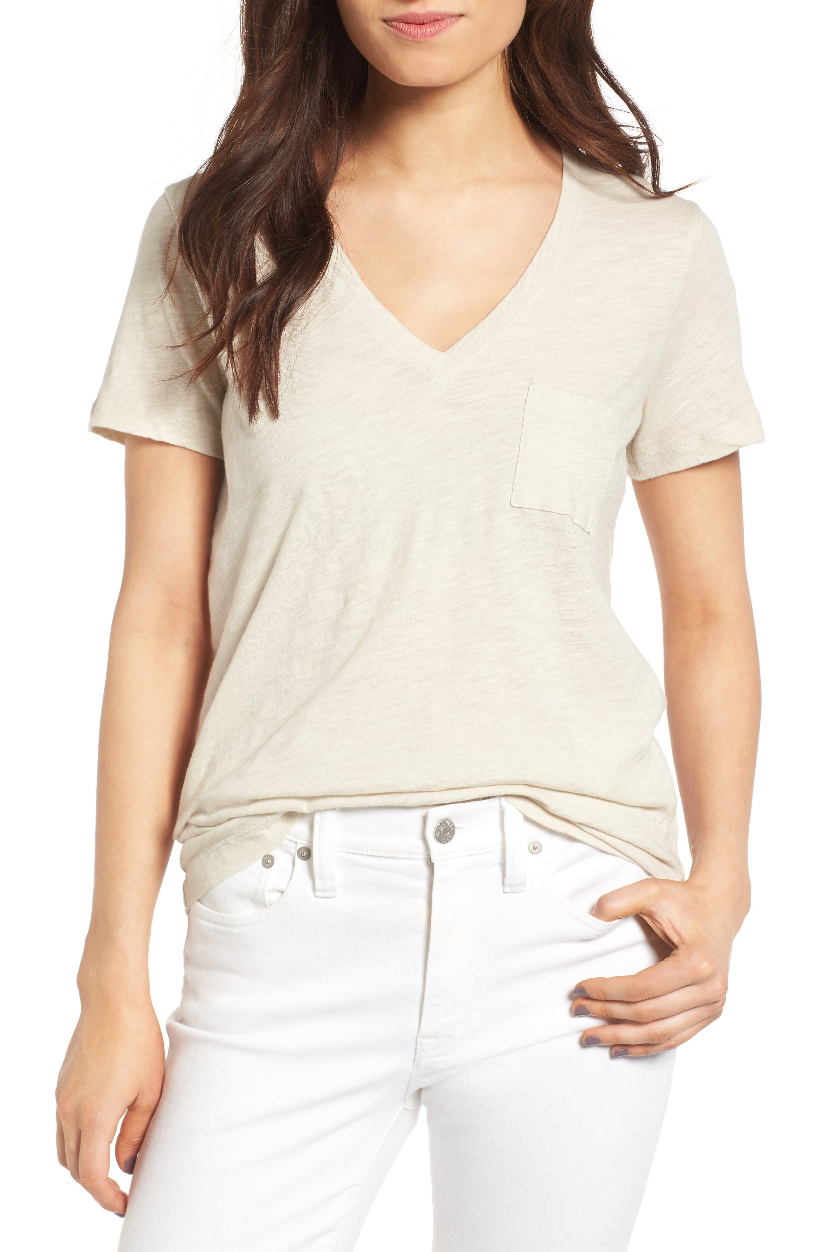 Whisper Cotton V-Neck Pocket Tee,                             Main thumbnail 10, color,