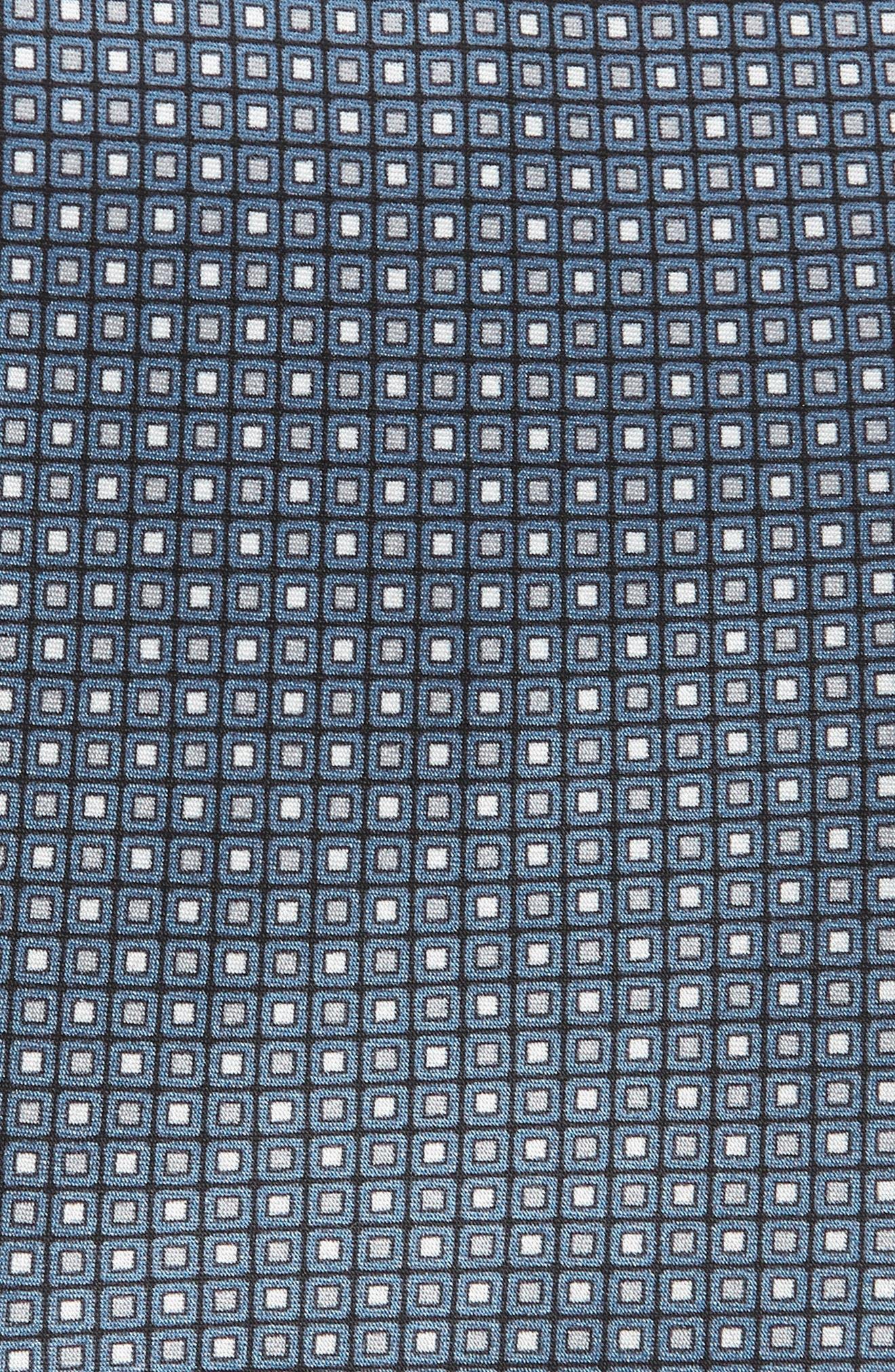 Dot Silk Tie,                             Alternate thumbnail 2, color,                             BLUE/ BLACK