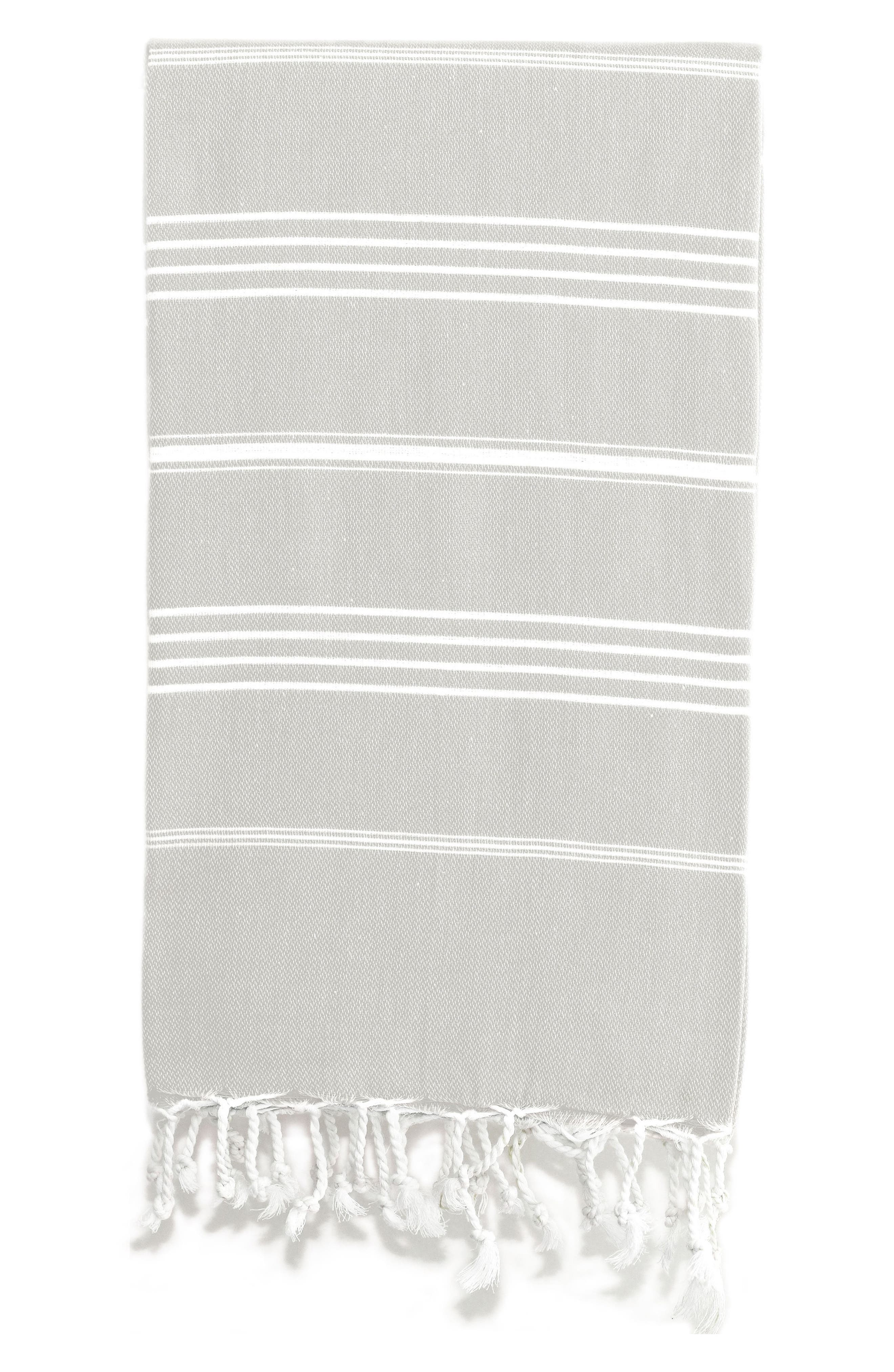 'Lucky' Turkish Pestemal Towel,                             Alternate thumbnail 2, color,                             GREY