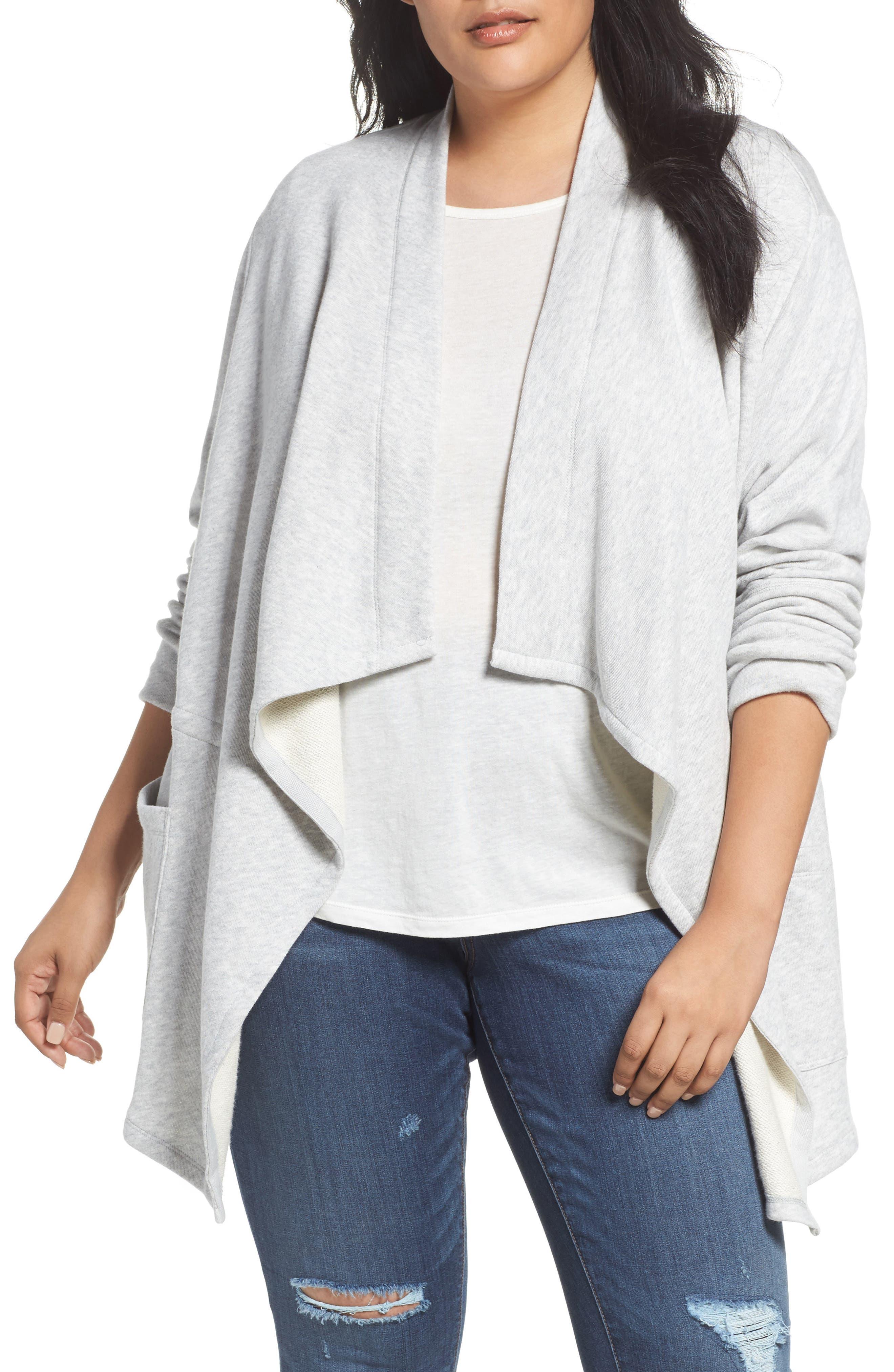 Knit Drape Front Jacket,                         Main,                         color, 050
