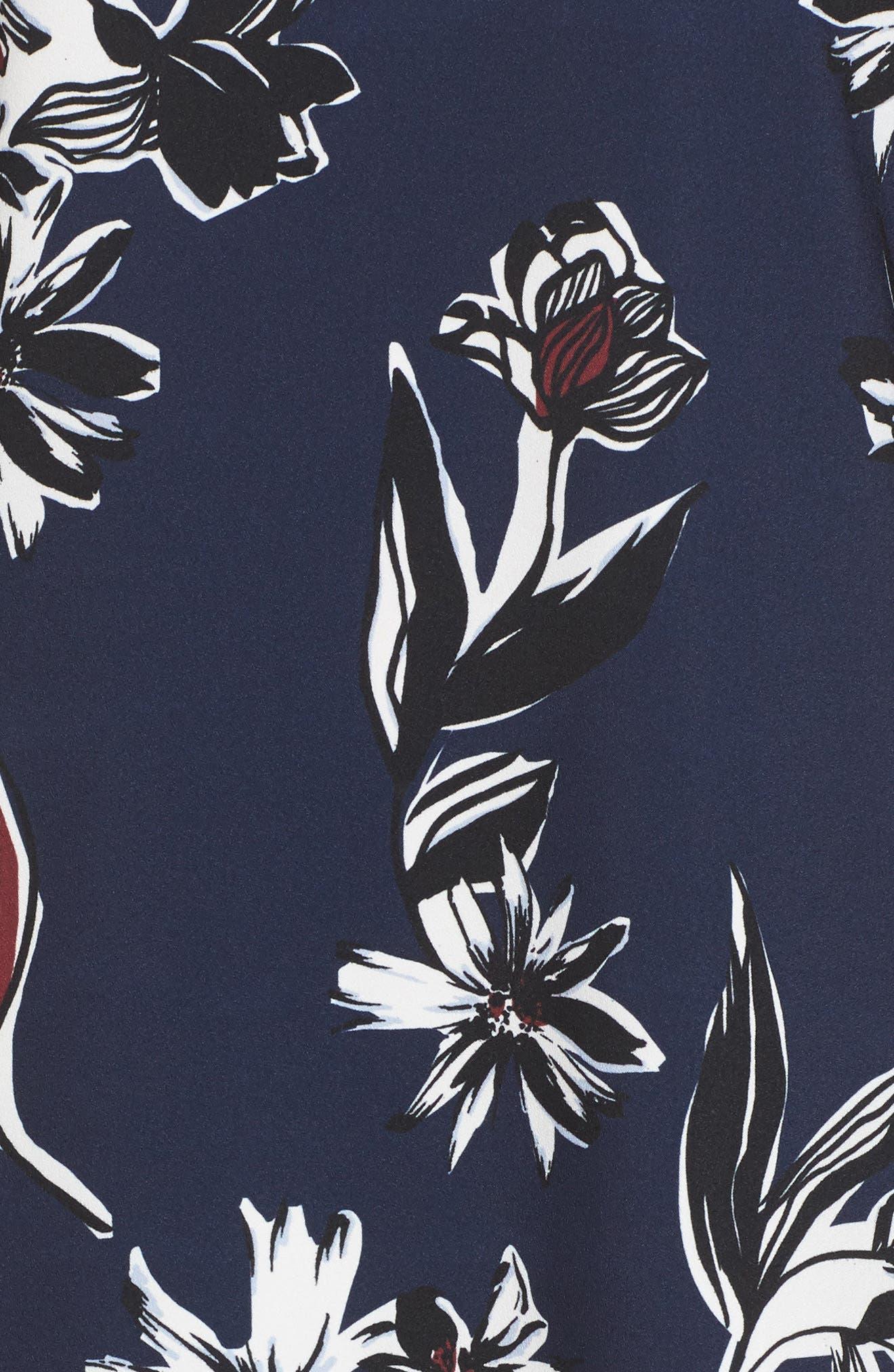 Button Back Ruffle Hem Dress,                             Alternate thumbnail 44, color,